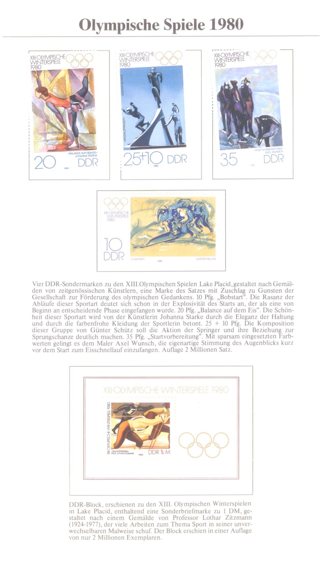 3 Alben Olympische Spiele 1980 in Moskau / Lake Placid