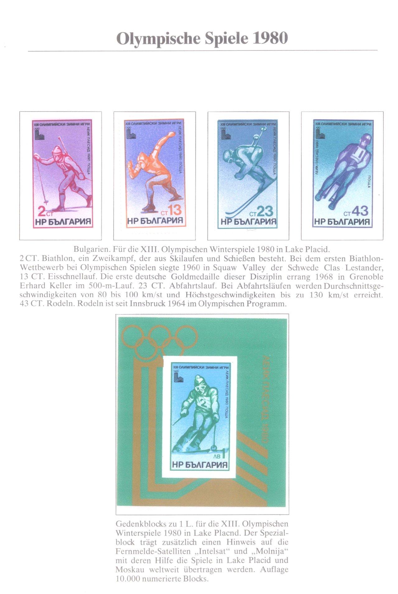 3 Alben Olympische Spiele 1980 in Moskau / Lake Placid-1