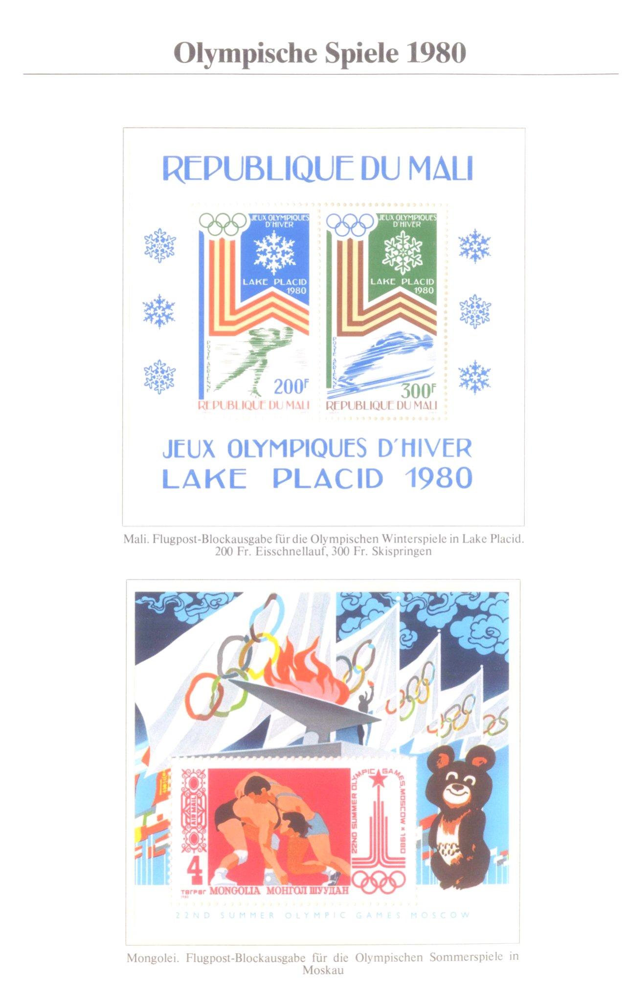 3 Alben Olympische Spiele 1980 in Moskau / Lake Placid-7