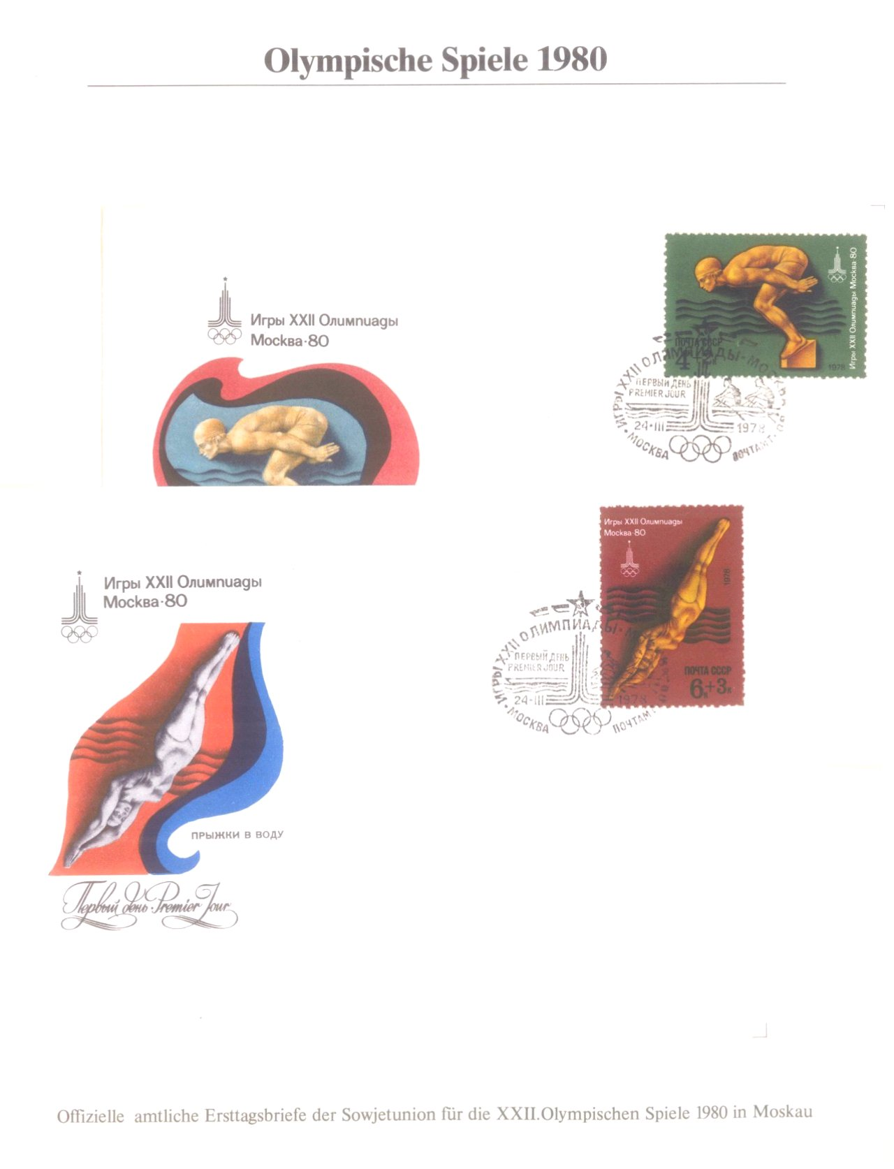 3 Alben Olympische Spiele 1980 in Moskau / Lake Placid-10