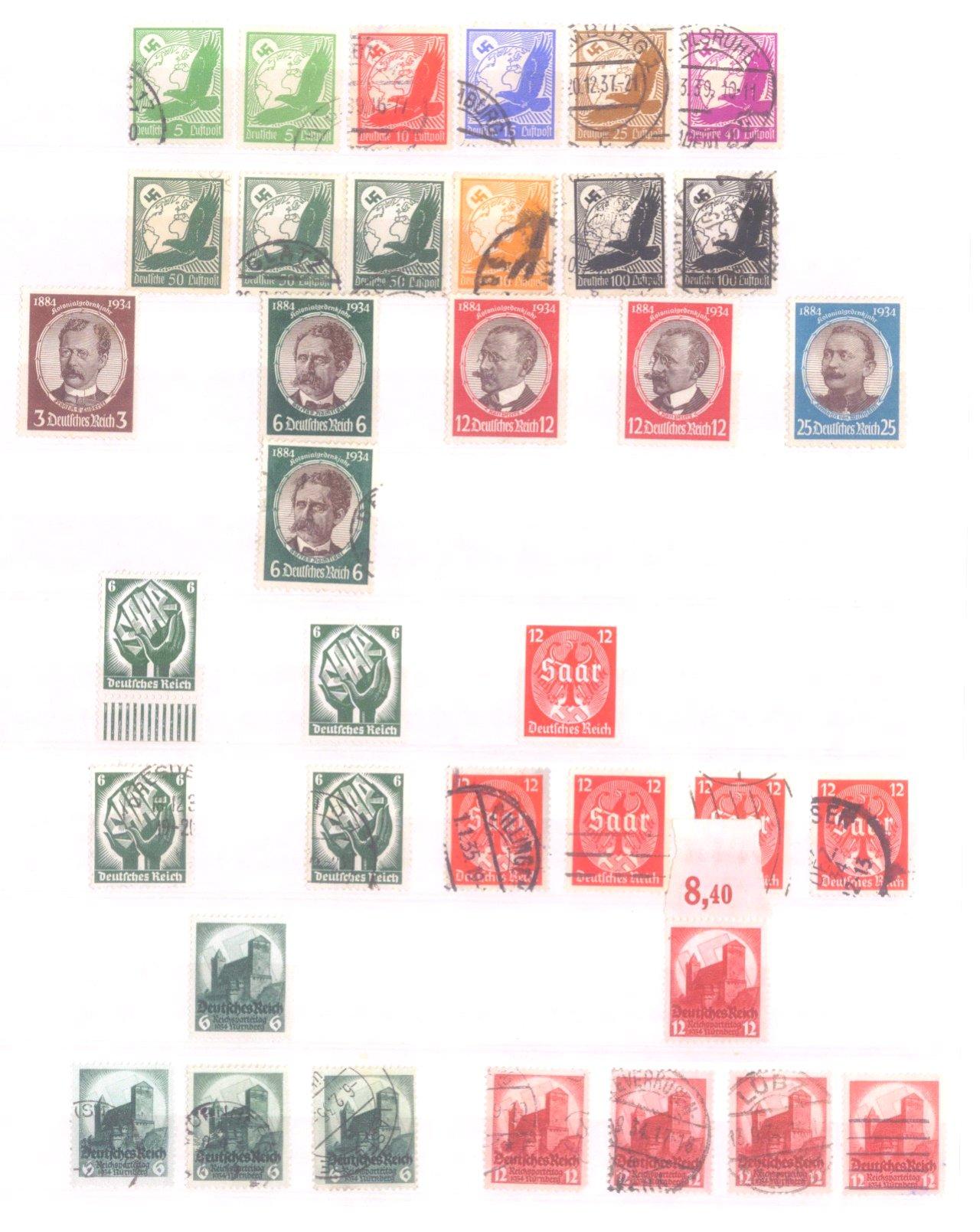 Sammlung Deutsches Reich in 2 Alben, 1933-1945-2