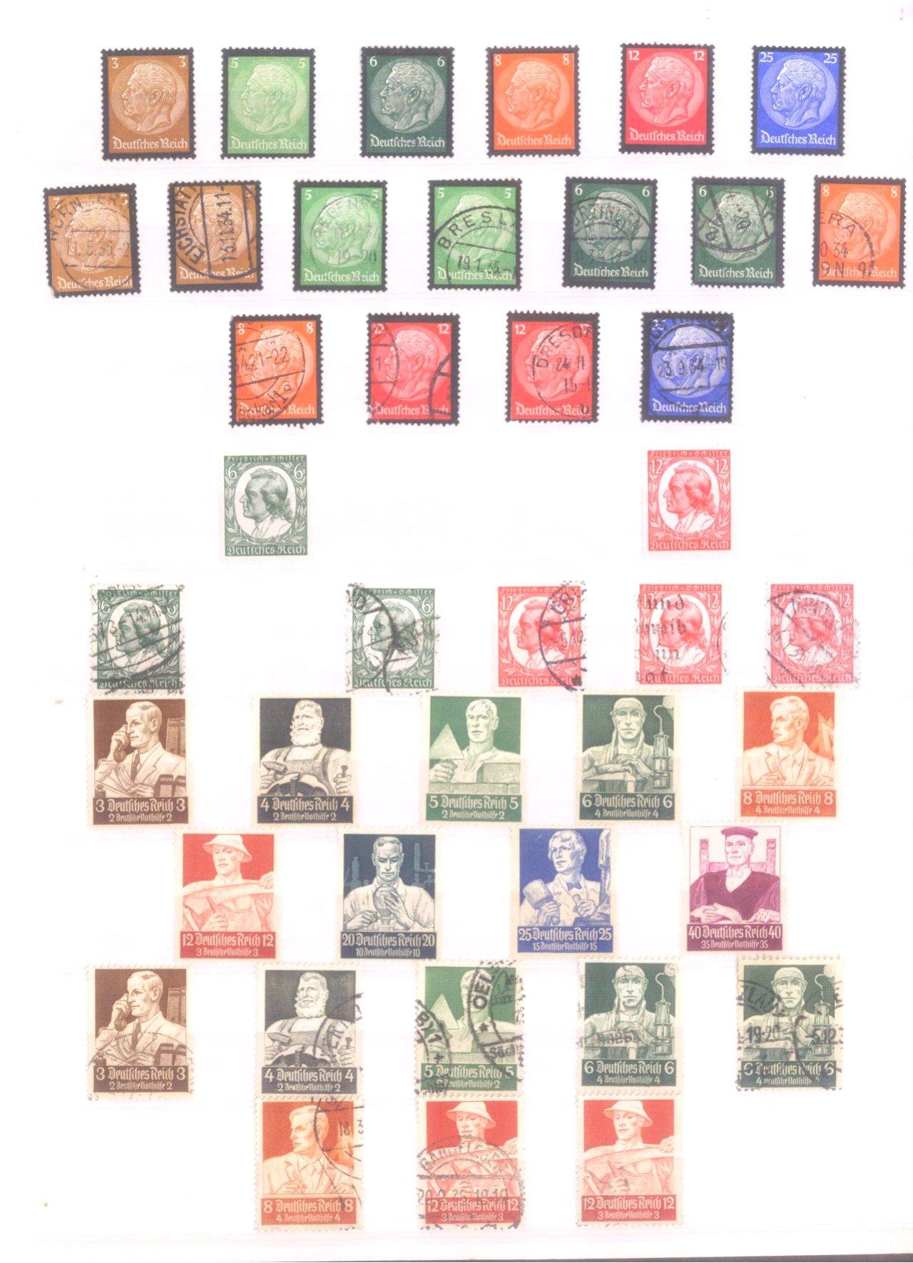 Sammlung Deutsches Reich in 2 Alben, 1933-1945-3