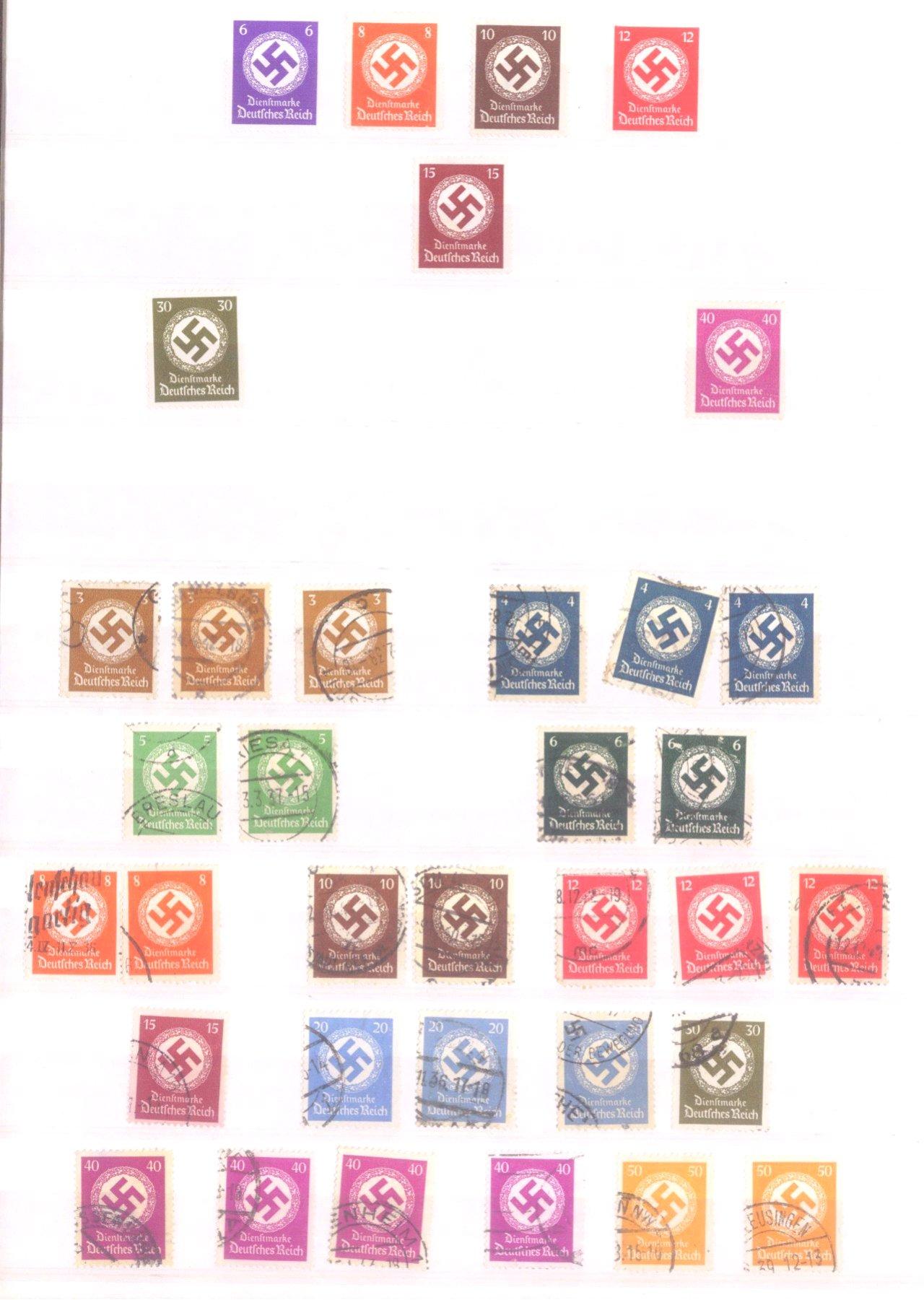 Sammlung Deutsches Reich in 2 Alben, 1933-1945-4