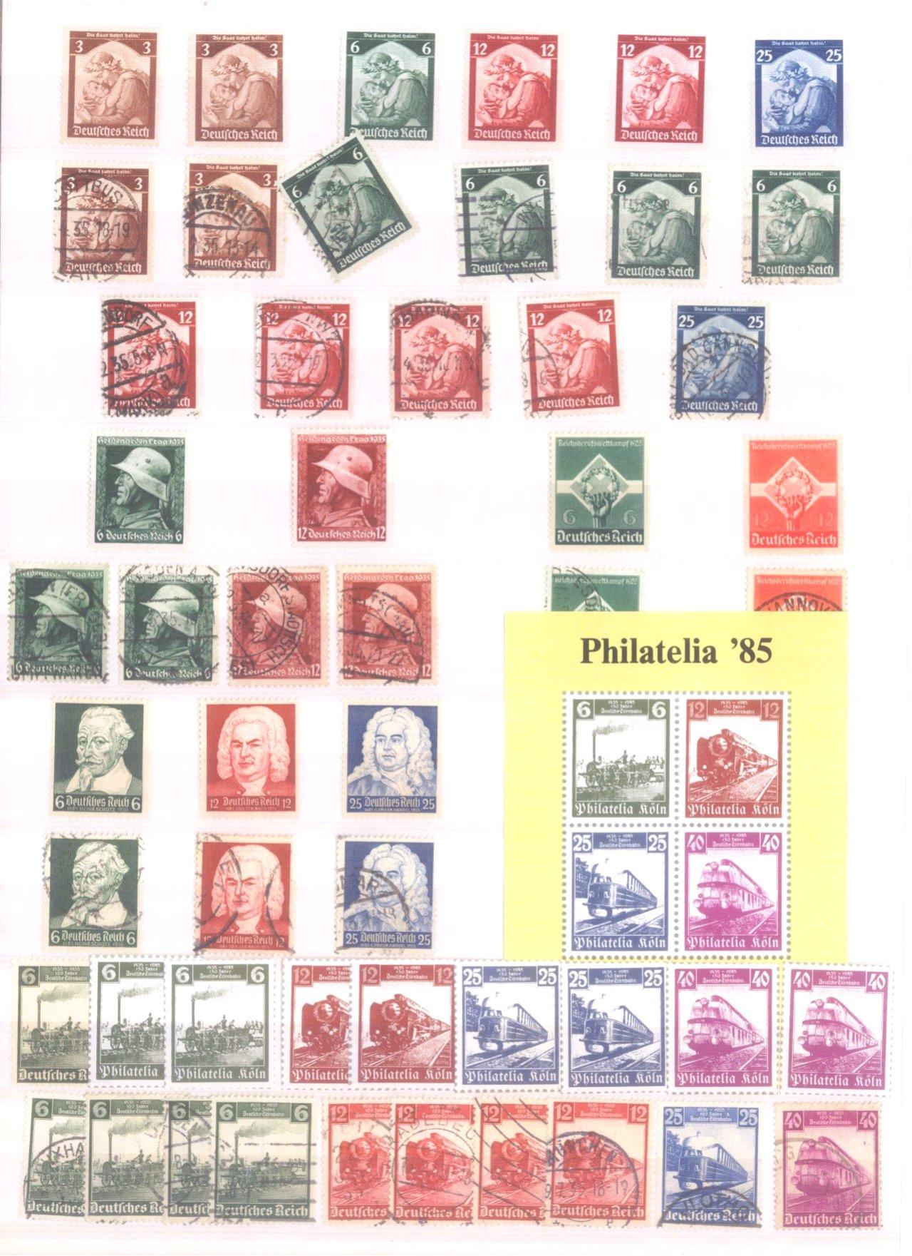 Sammlung Deutsches Reich in 2 Alben, 1933-1945-7