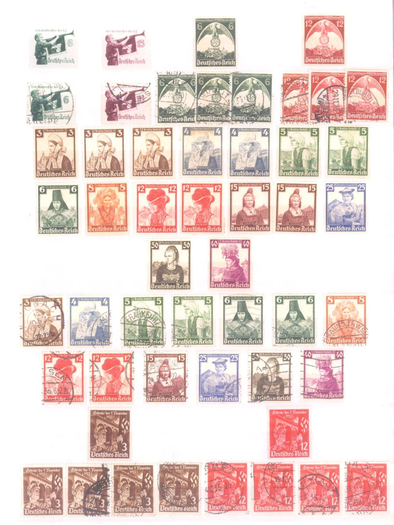 Sammlung Deutsches Reich in 2 Alben, 1933-1945-8