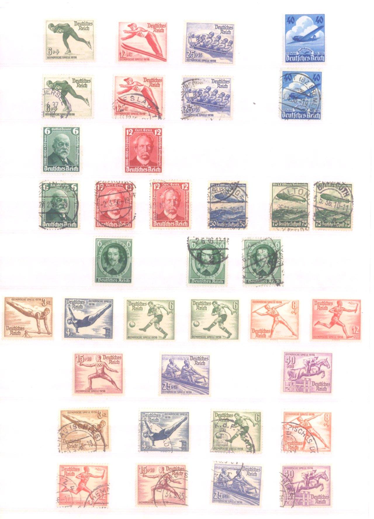 Sammlung Deutsches Reich in 2 Alben, 1933-1945-9