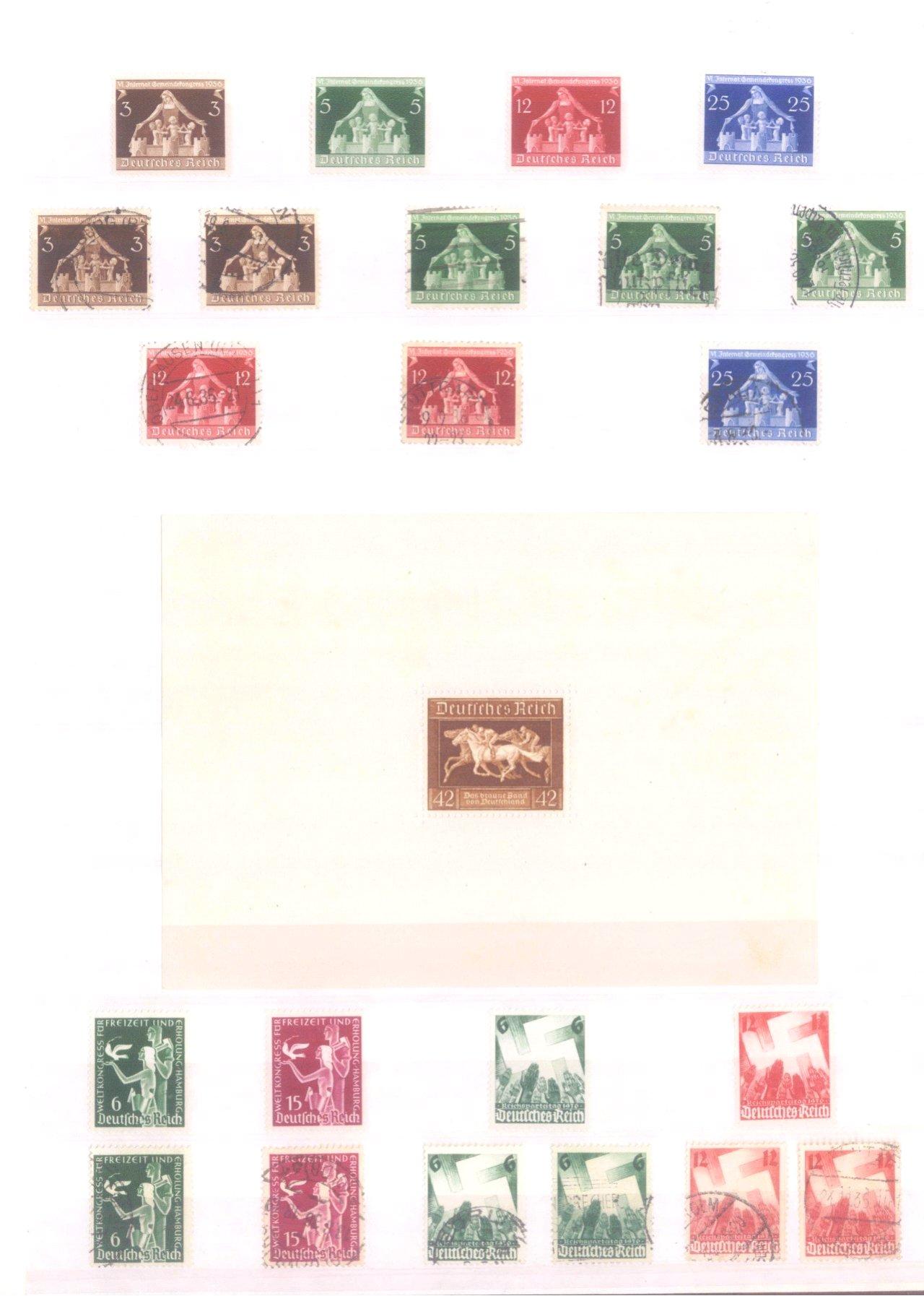 Sammlung Deutsches Reich in 2 Alben, 1933-1945-10
