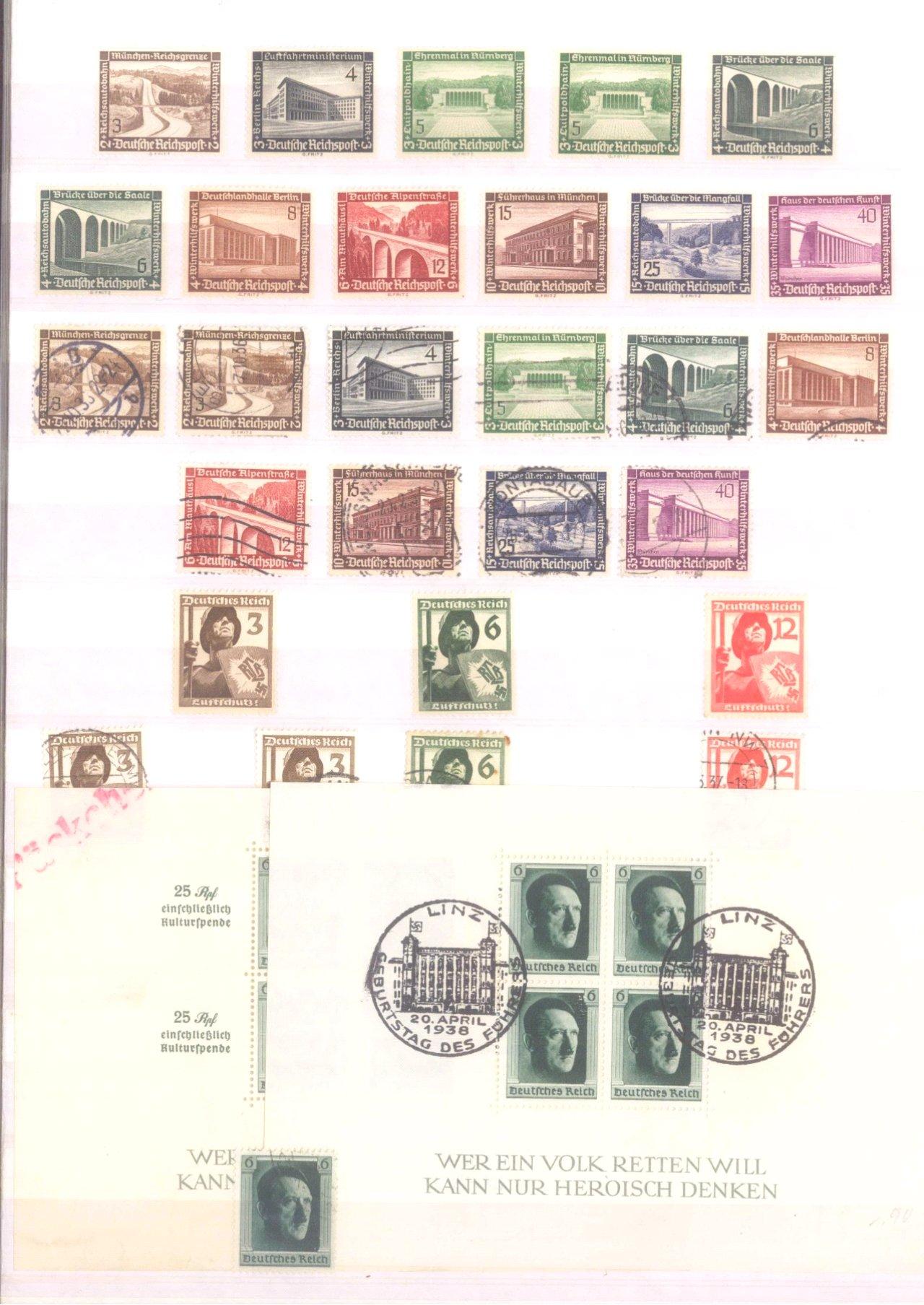 Sammlung Deutsches Reich in 2 Alben, 1933-1945-11
