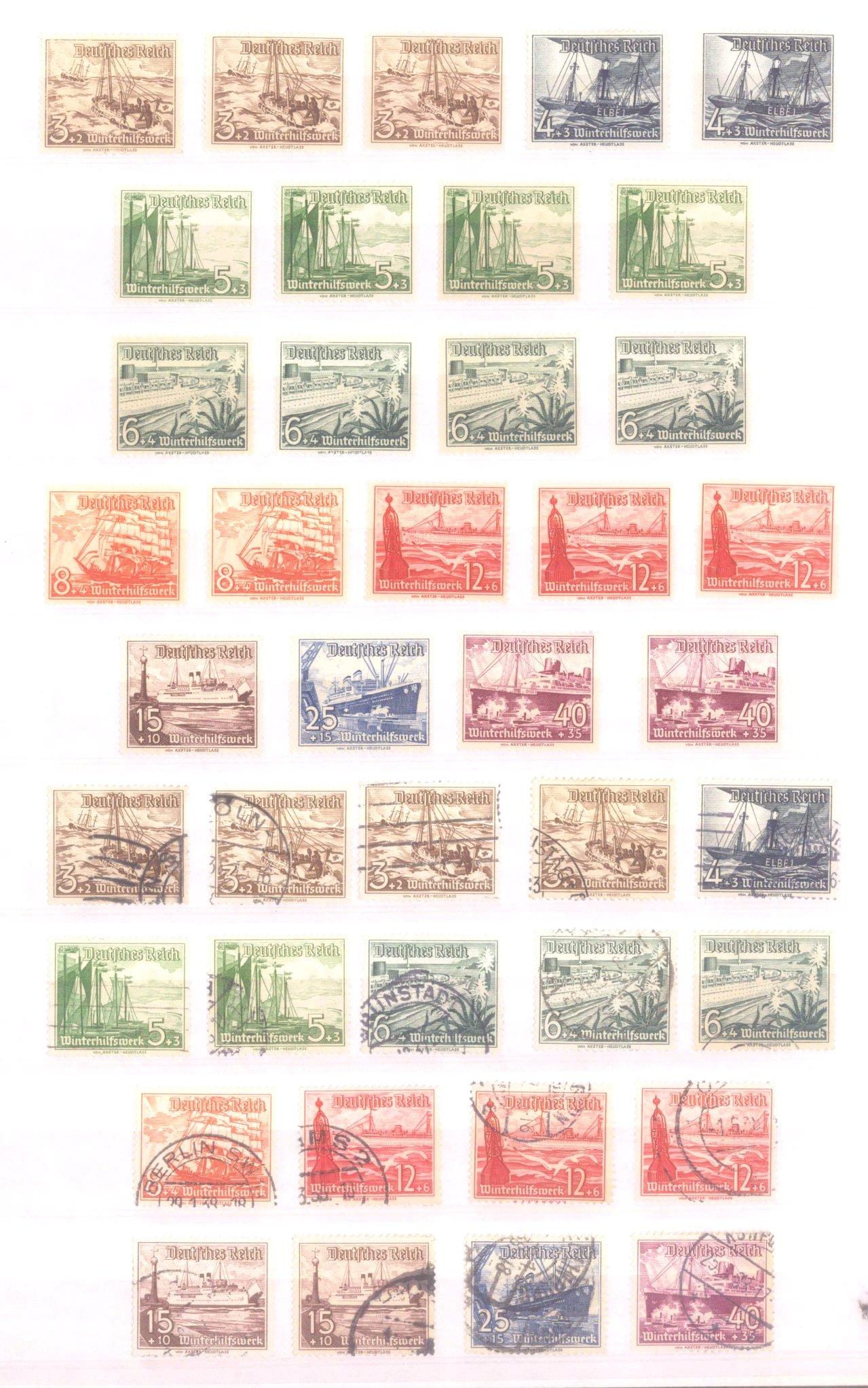 Sammlung Deutsches Reich in 2 Alben, 1933-1945-12