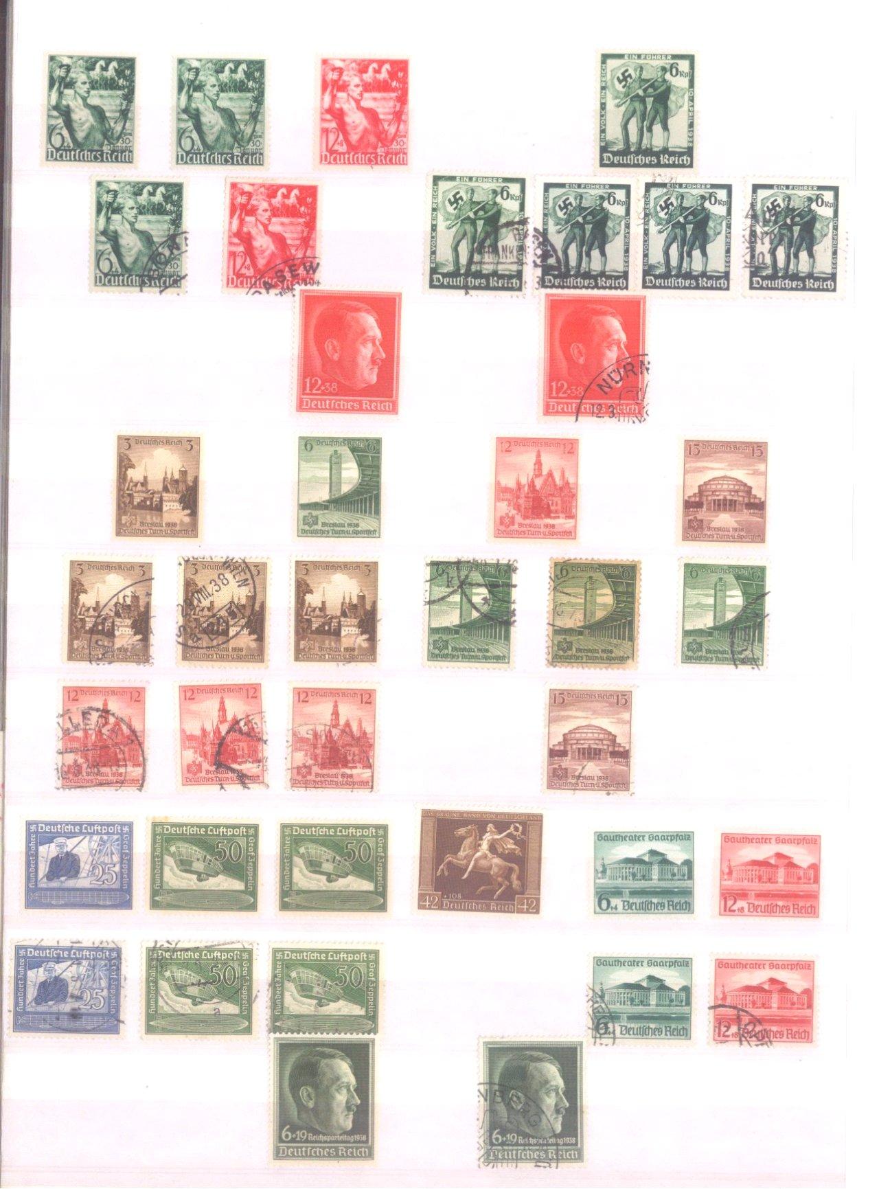 Sammlung Deutsches Reich in 2 Alben, 1933-1945-13