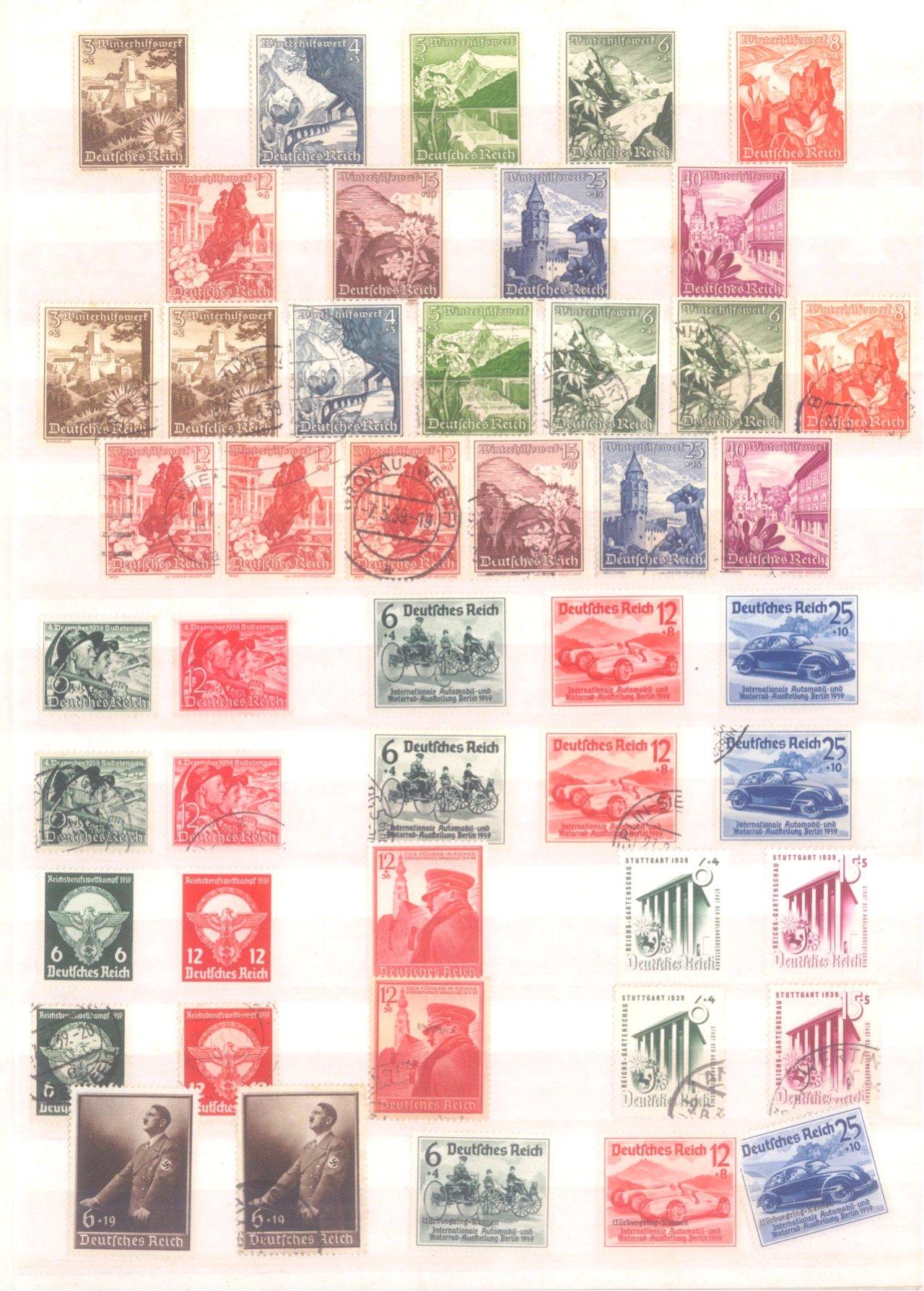 Sammlung Deutsches Reich in 2 Alben, 1933-1945-14