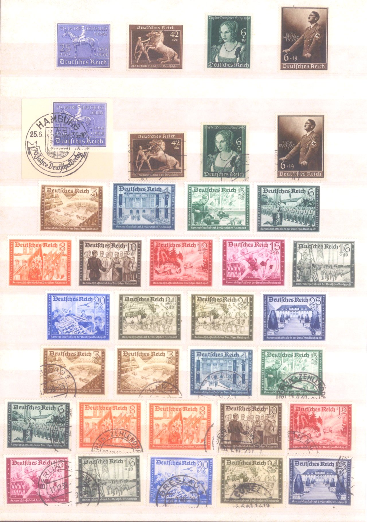 Sammlung Deutsches Reich in 2 Alben, 1933-1945-15
