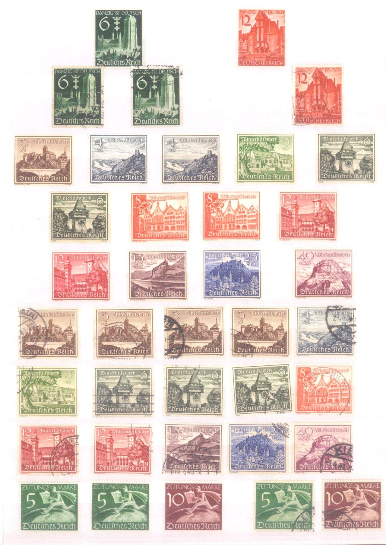 Sammlung Deutsches Reich in 2 Alben, 1933-1945-16