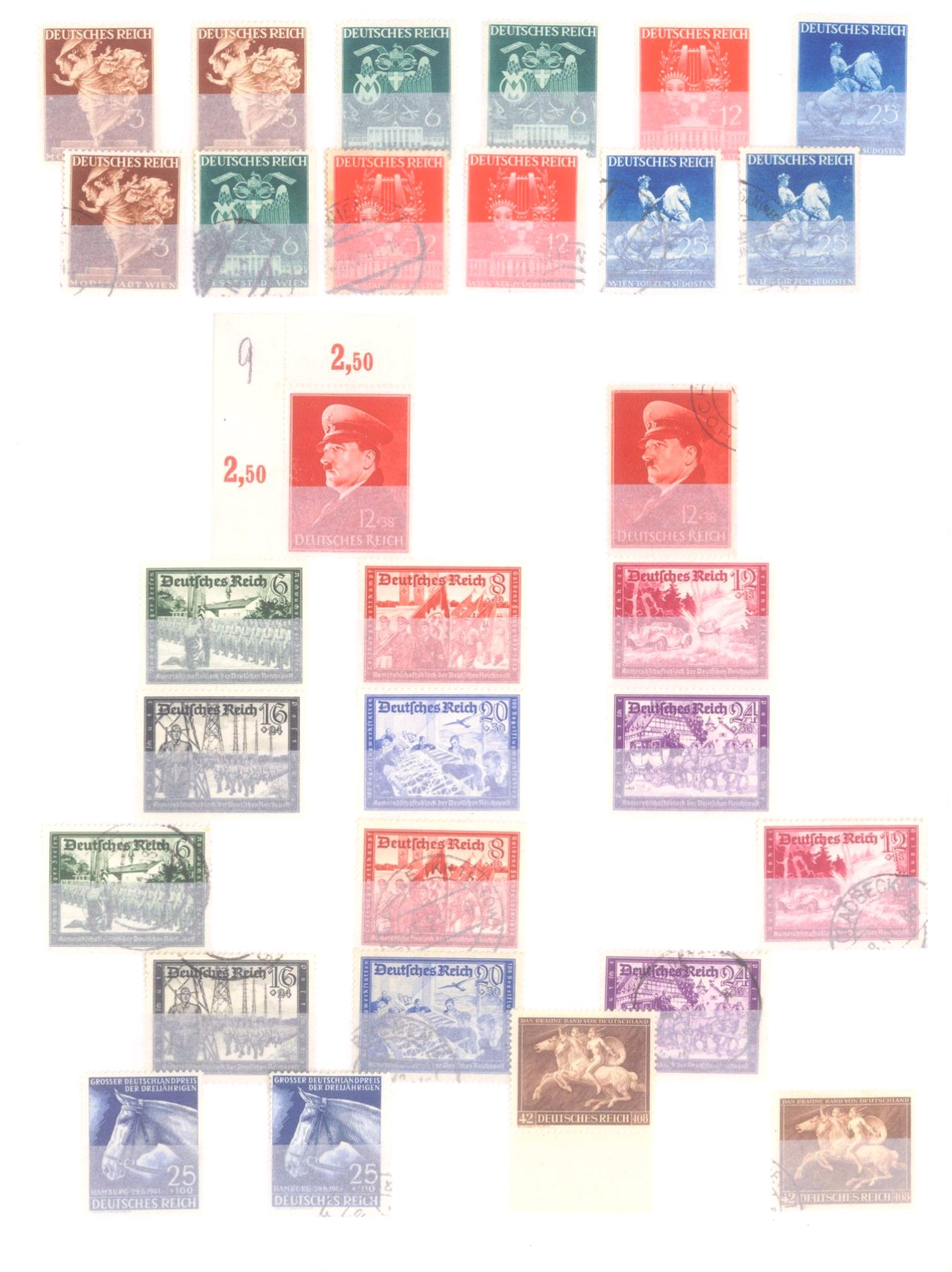 Sammlung Deutsches Reich in 2 Alben, 1933-1945-19