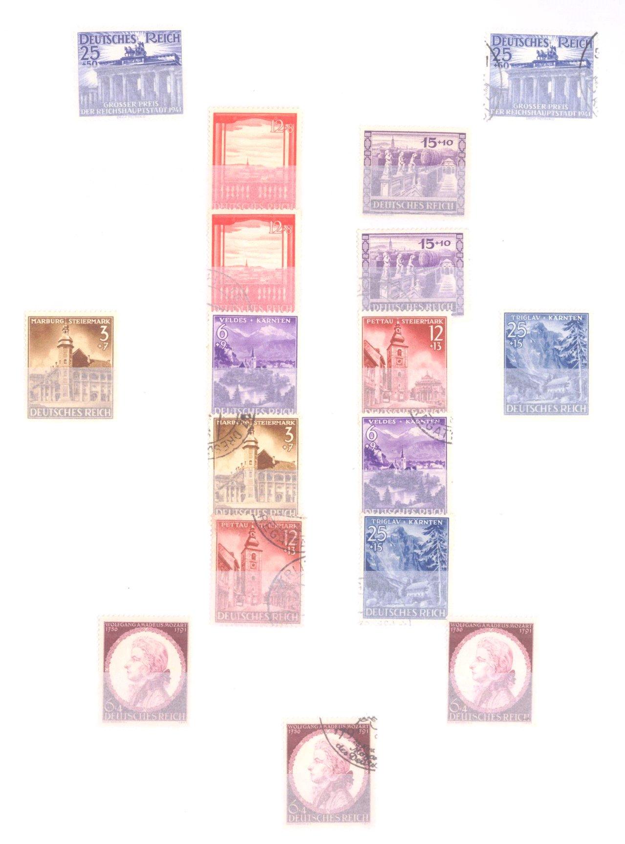 Sammlung Deutsches Reich in 2 Alben, 1933-1945-21