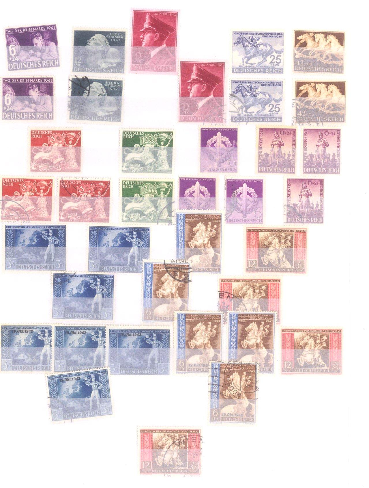 Sammlung Deutsches Reich in 2 Alben, 1933-1945-22