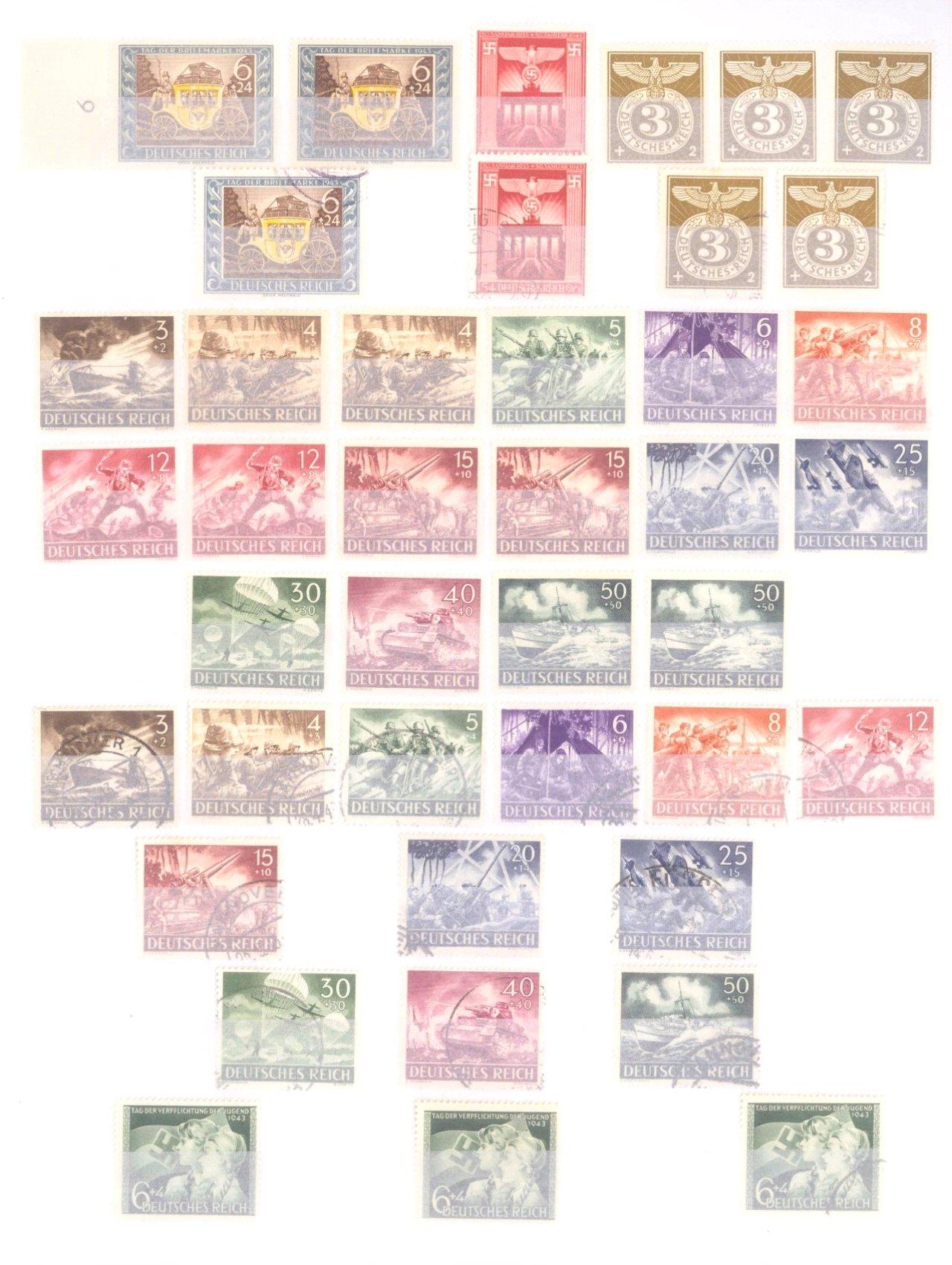 Sammlung Deutsches Reich in 2 Alben, 1933-1945-23