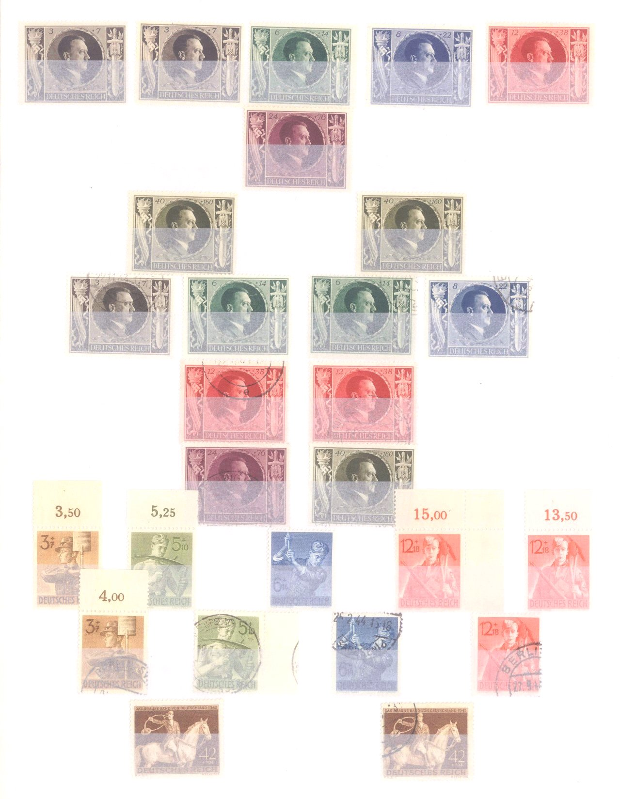 Sammlung Deutsches Reich in 2 Alben, 1933-1945-24