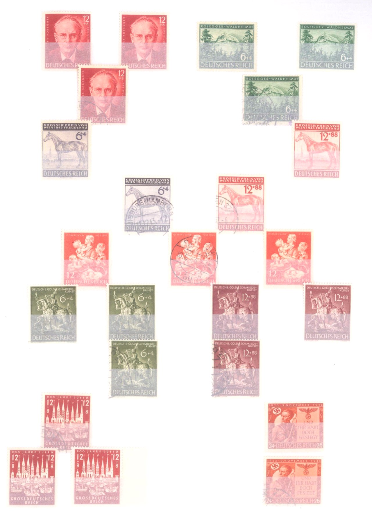 Sammlung Deutsches Reich in 2 Alben, 1933-1945-25
