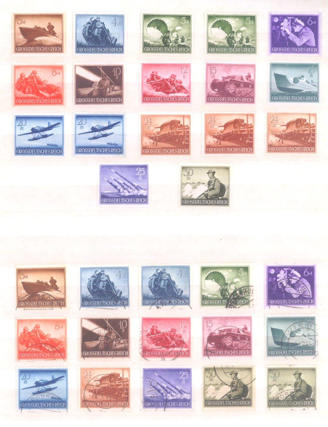 Sammlung Deutsches Reich in 2 Alben, 1933-1945-27