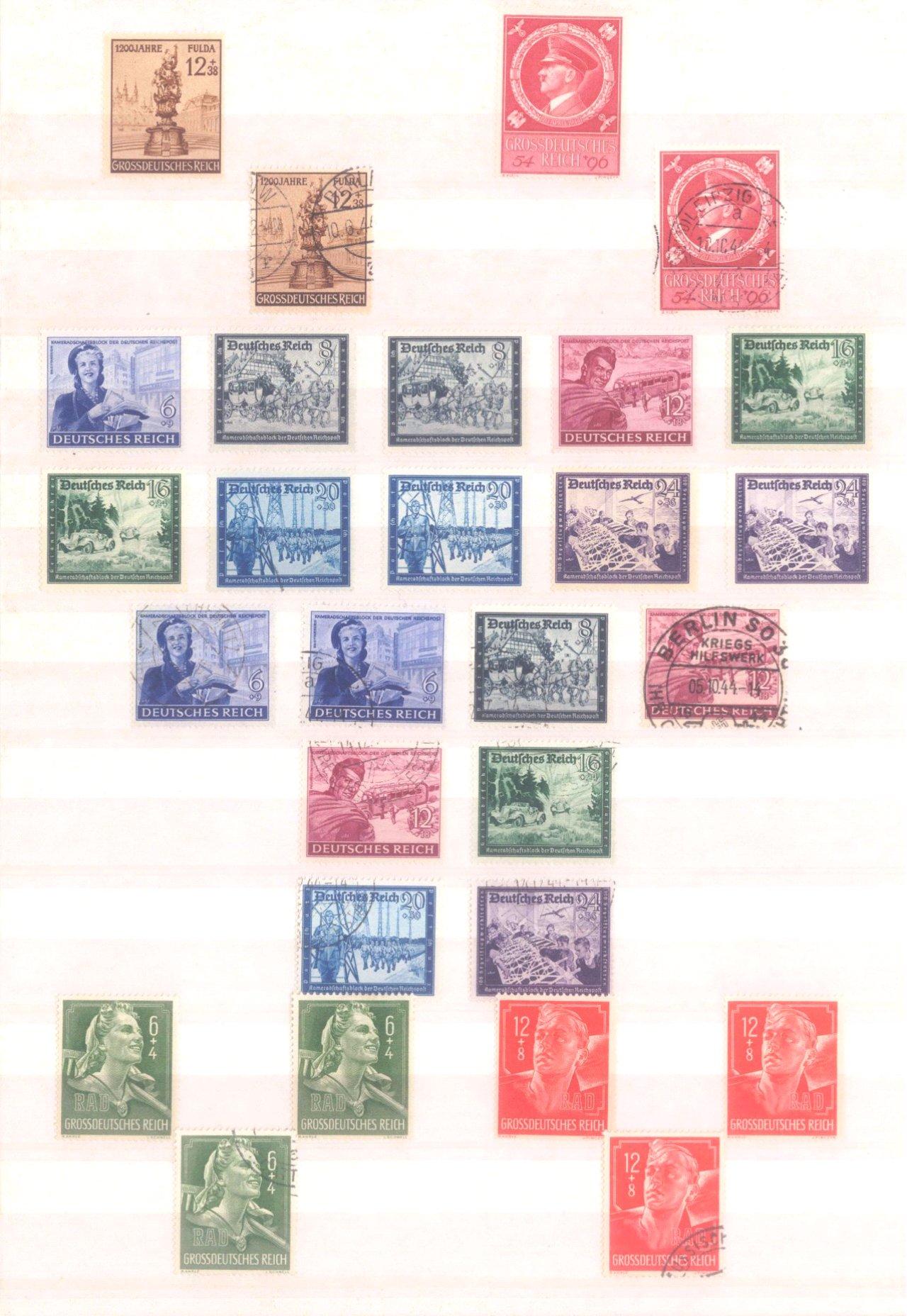 Sammlung Deutsches Reich in 2 Alben, 1933-1945-28