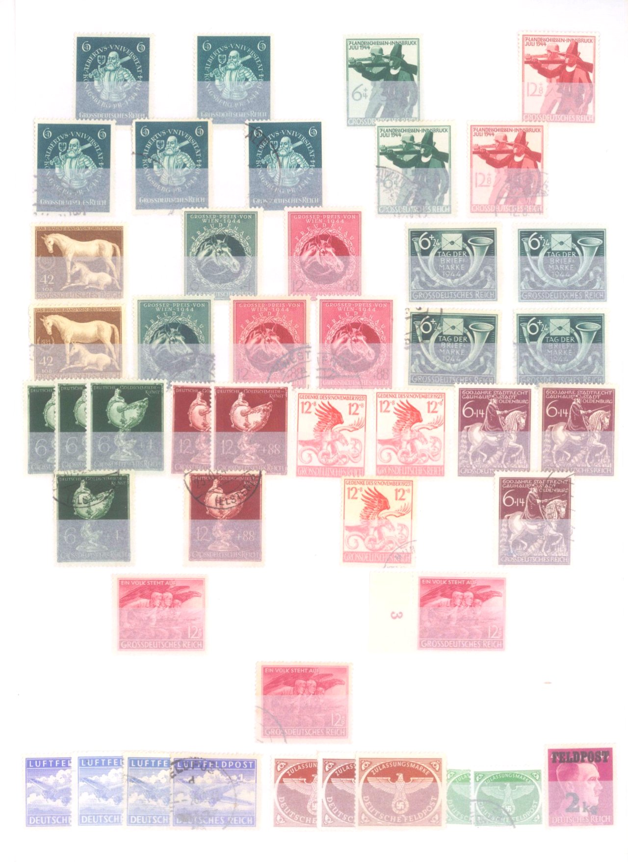 Sammlung Deutsches Reich in 2 Alben, 1933-1945-29