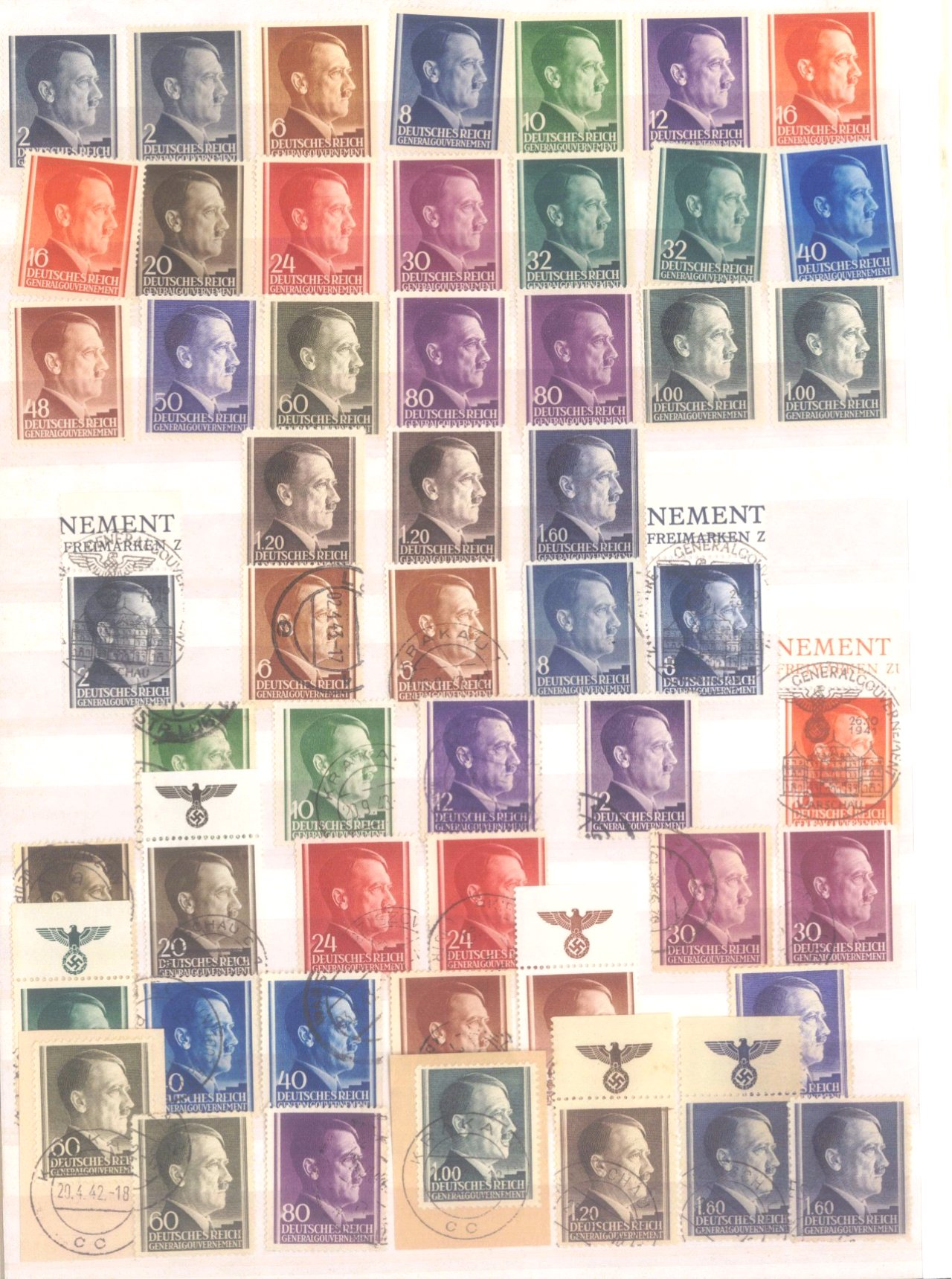 Sammlung Deutsches Reich in 2 Alben, 1933-1945-34