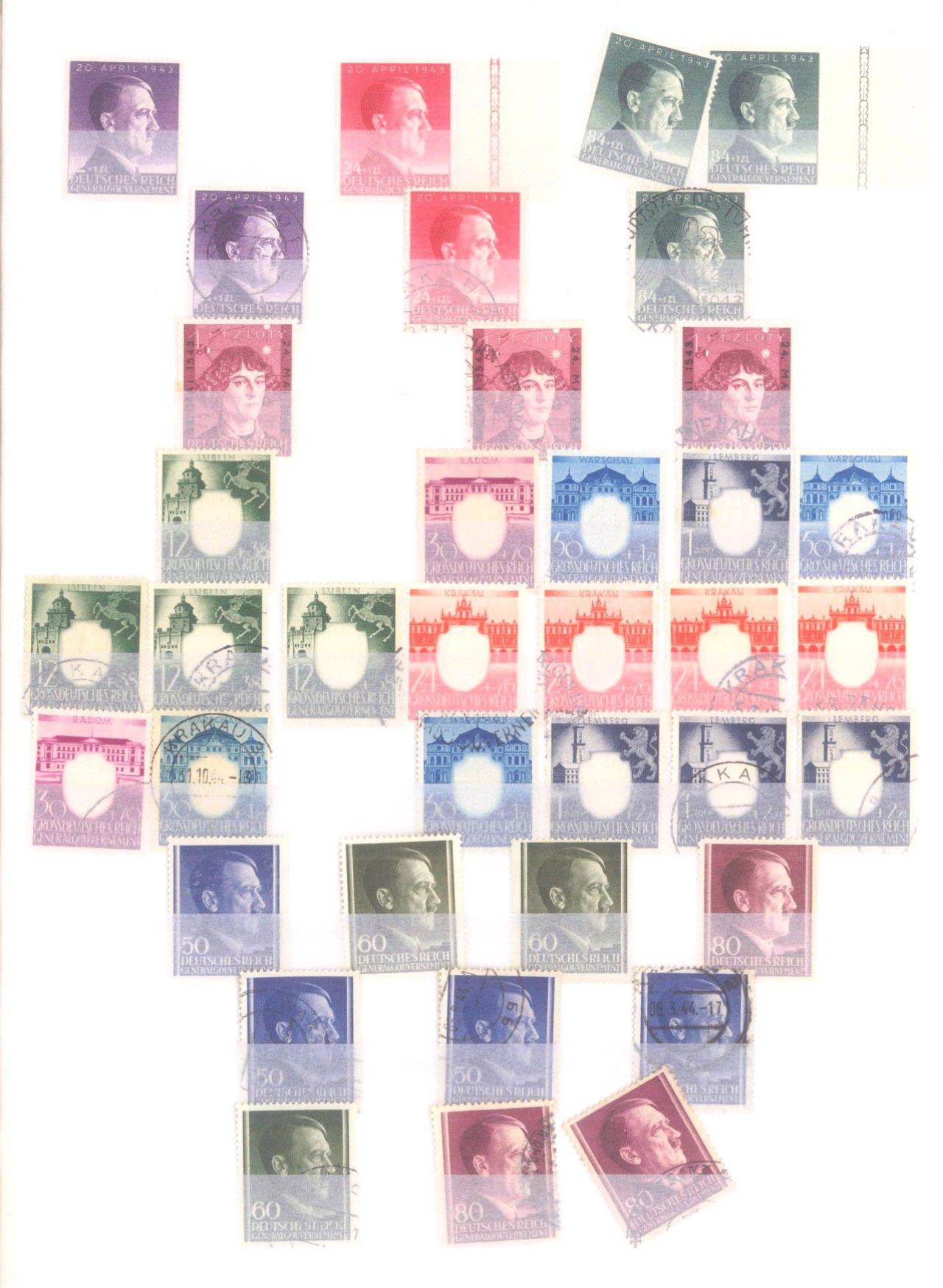 Sammlung Deutsches Reich in 2 Alben, 1933-1945-36