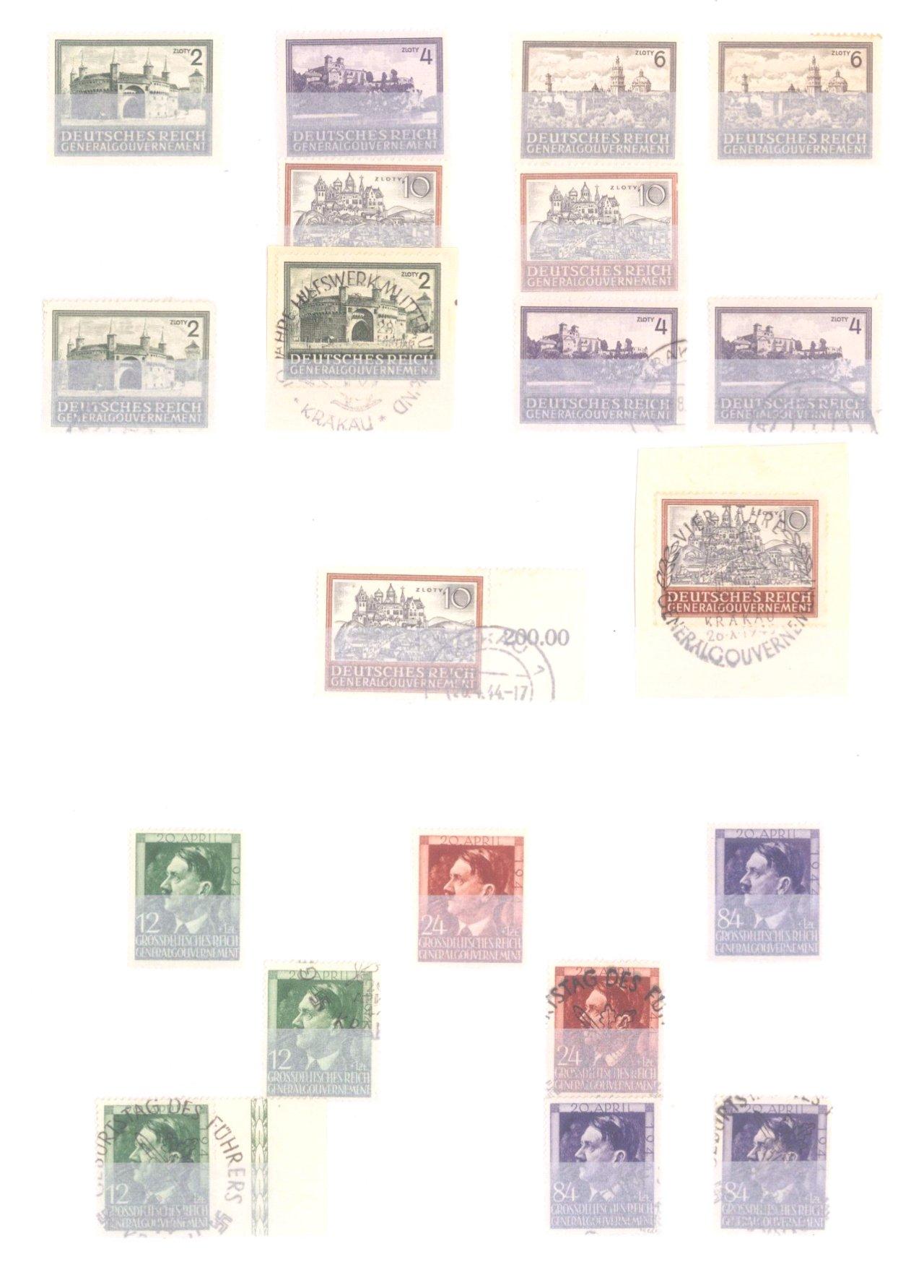 Sammlung Deutsches Reich in 2 Alben, 1933-1945-37