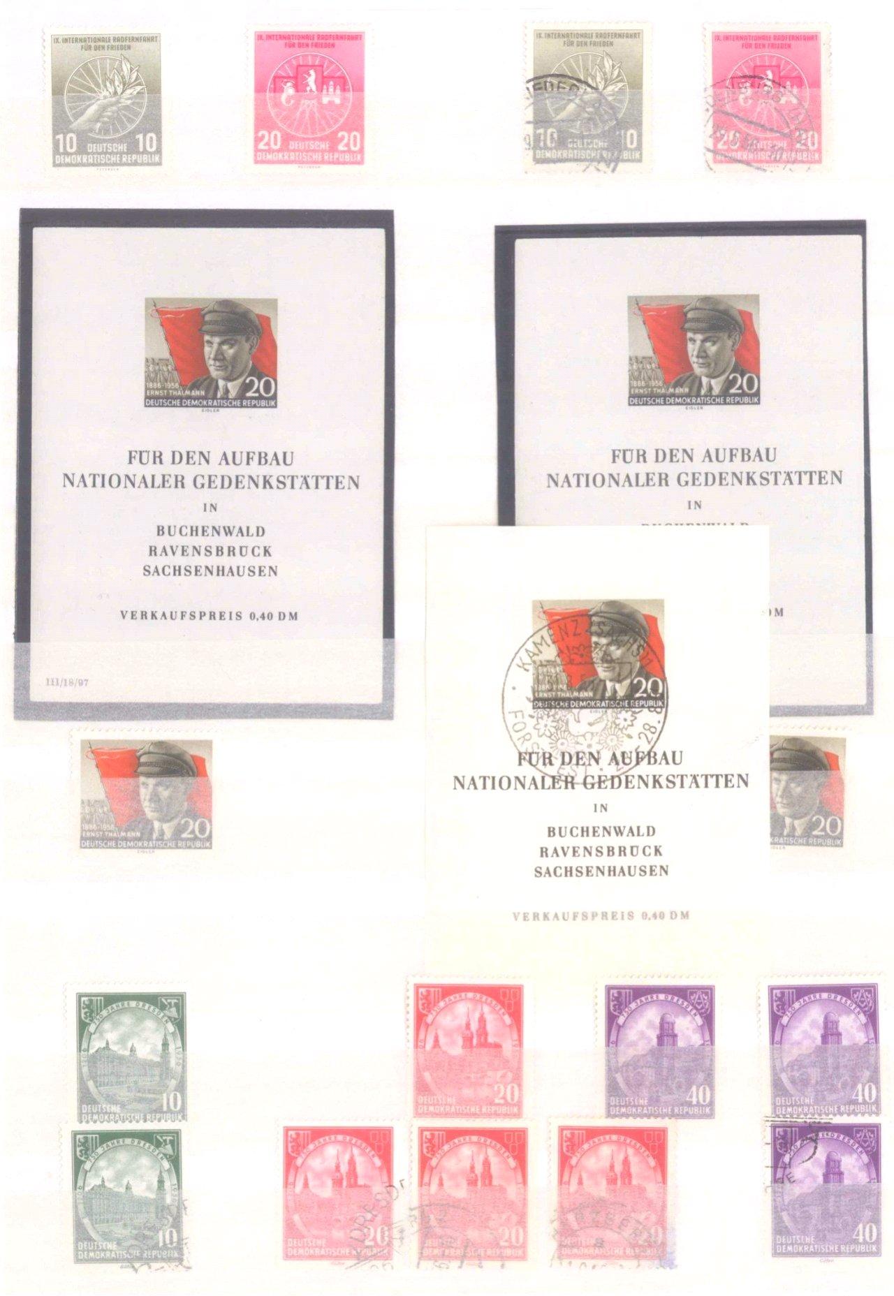 Sammlung DDR in 7 Alben, 1949-1990