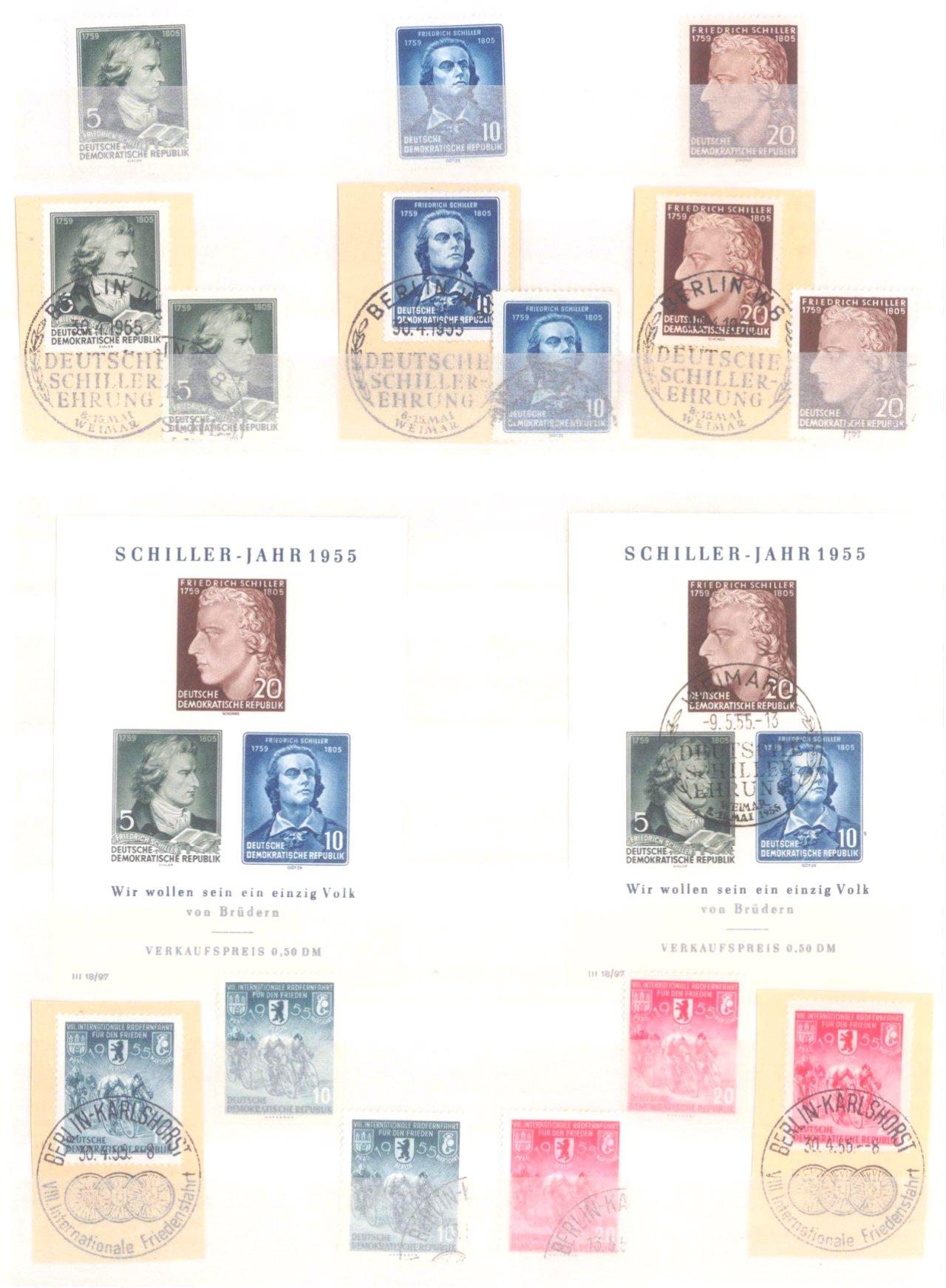 Sammlung DDR in 7 Alben, 1949-1990-1