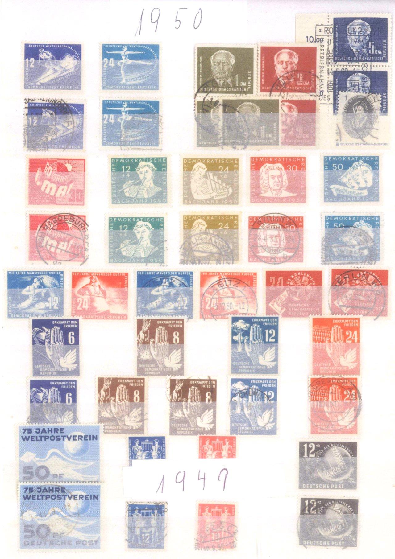 Sammlung DDR in 7 Alben, 1949-1990-11