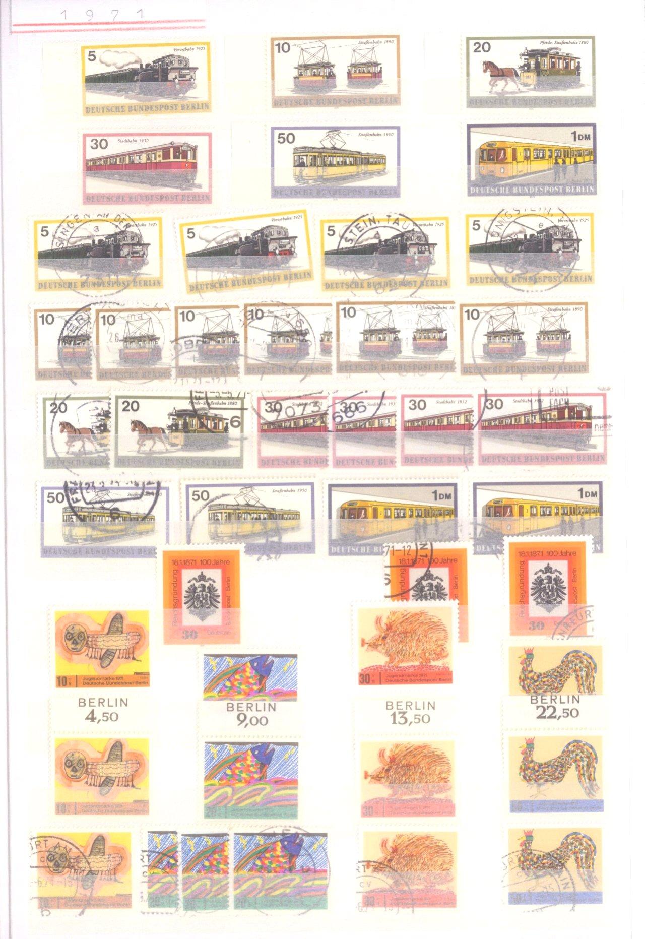 Sammlung Berlin ab 1949 mit Sonderaufstellung d. Dauermarken-3