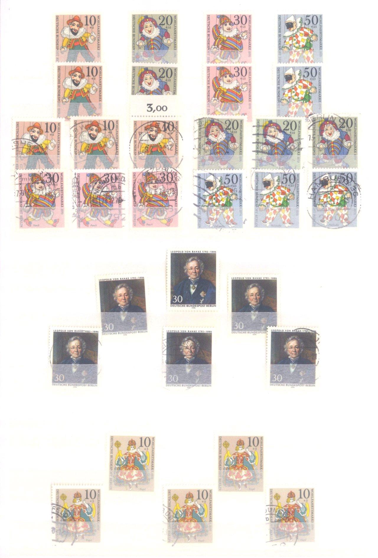 Sammlung Berlin ab 1949 mit Sonderaufstellung d. Dauermarken-8