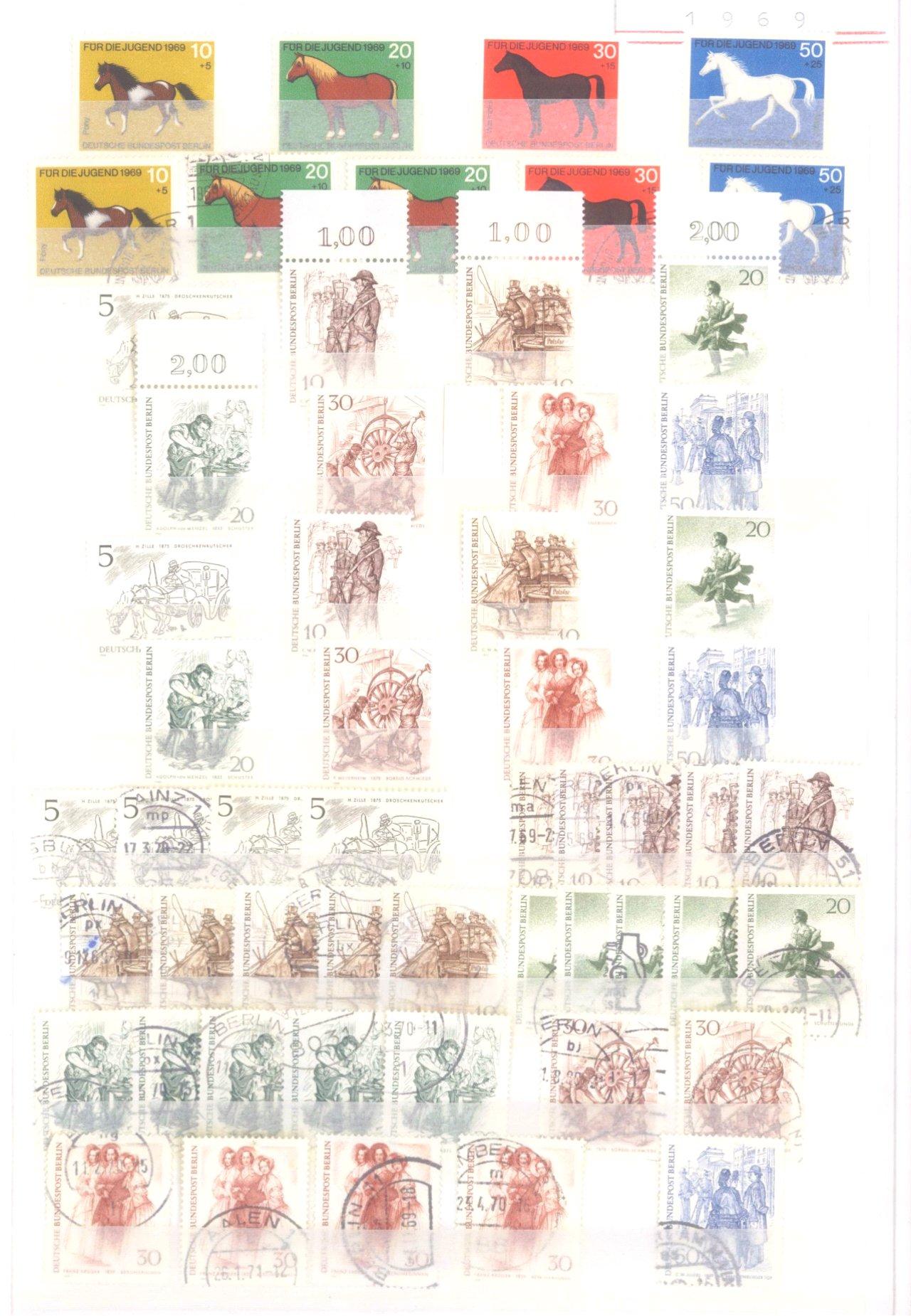 Sammlung Berlin ab 1949 mit Sonderaufstellung d. Dauermarken-9