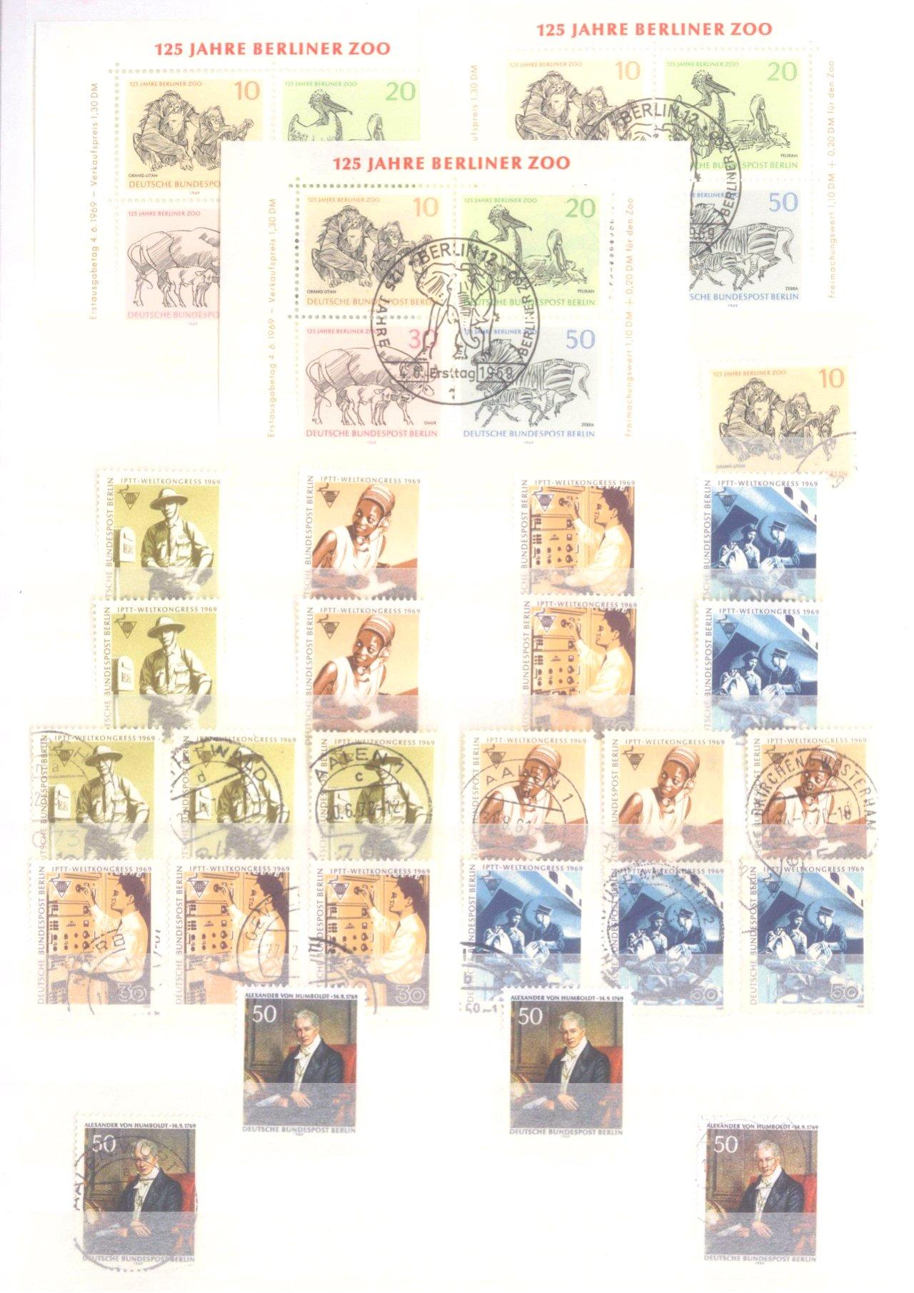 Sammlung Berlin ab 1949 mit Sonderaufstellung d. Dauermarken-10