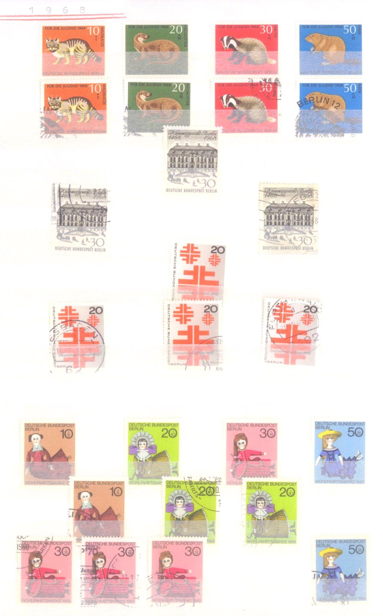 Sammlung Berlin ab 1949 mit Sonderaufstellung d. Dauermarken-12