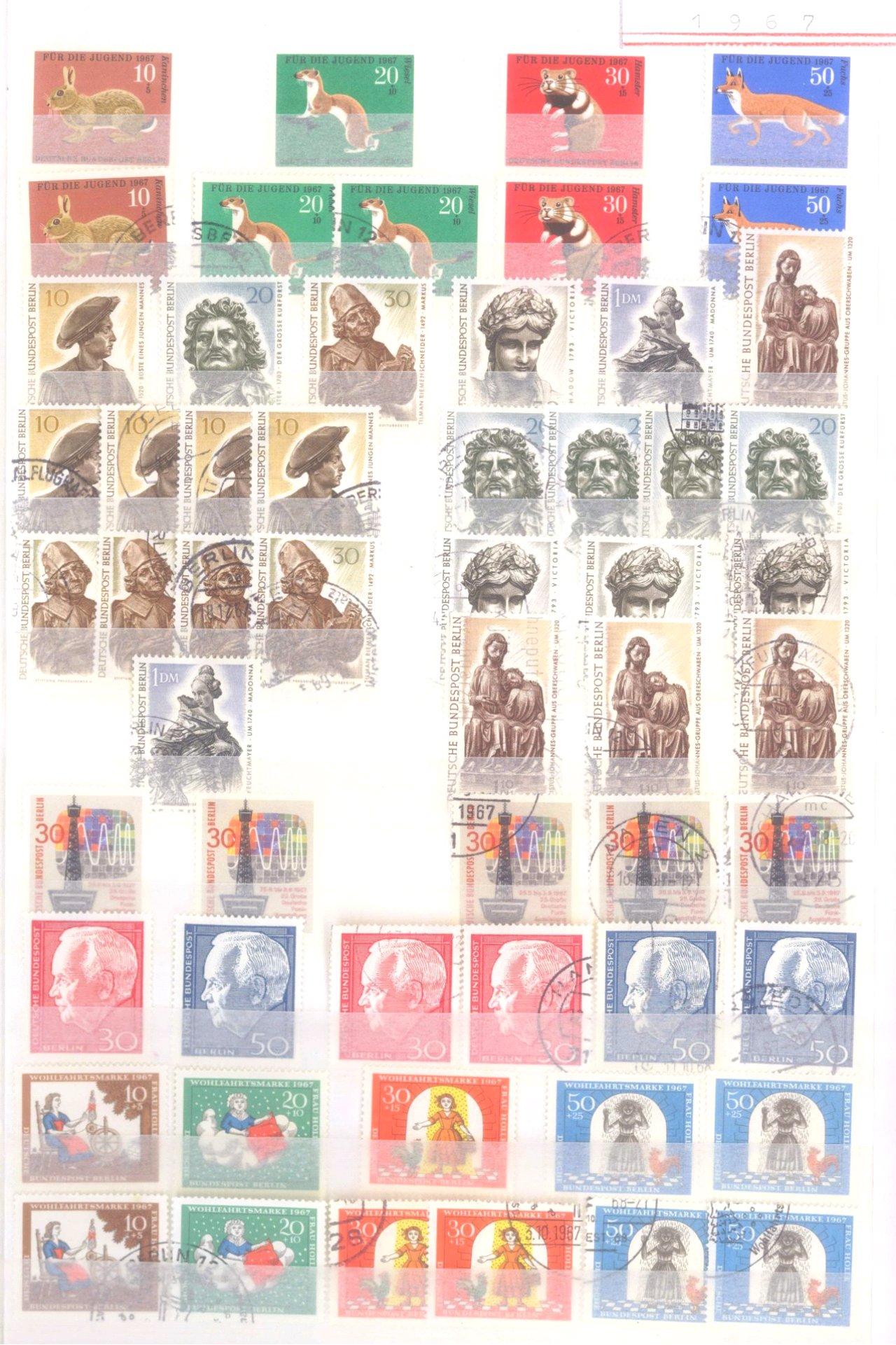 Sammlung Berlin ab 1949 mit Sonderaufstellung d. Dauermarken-13
