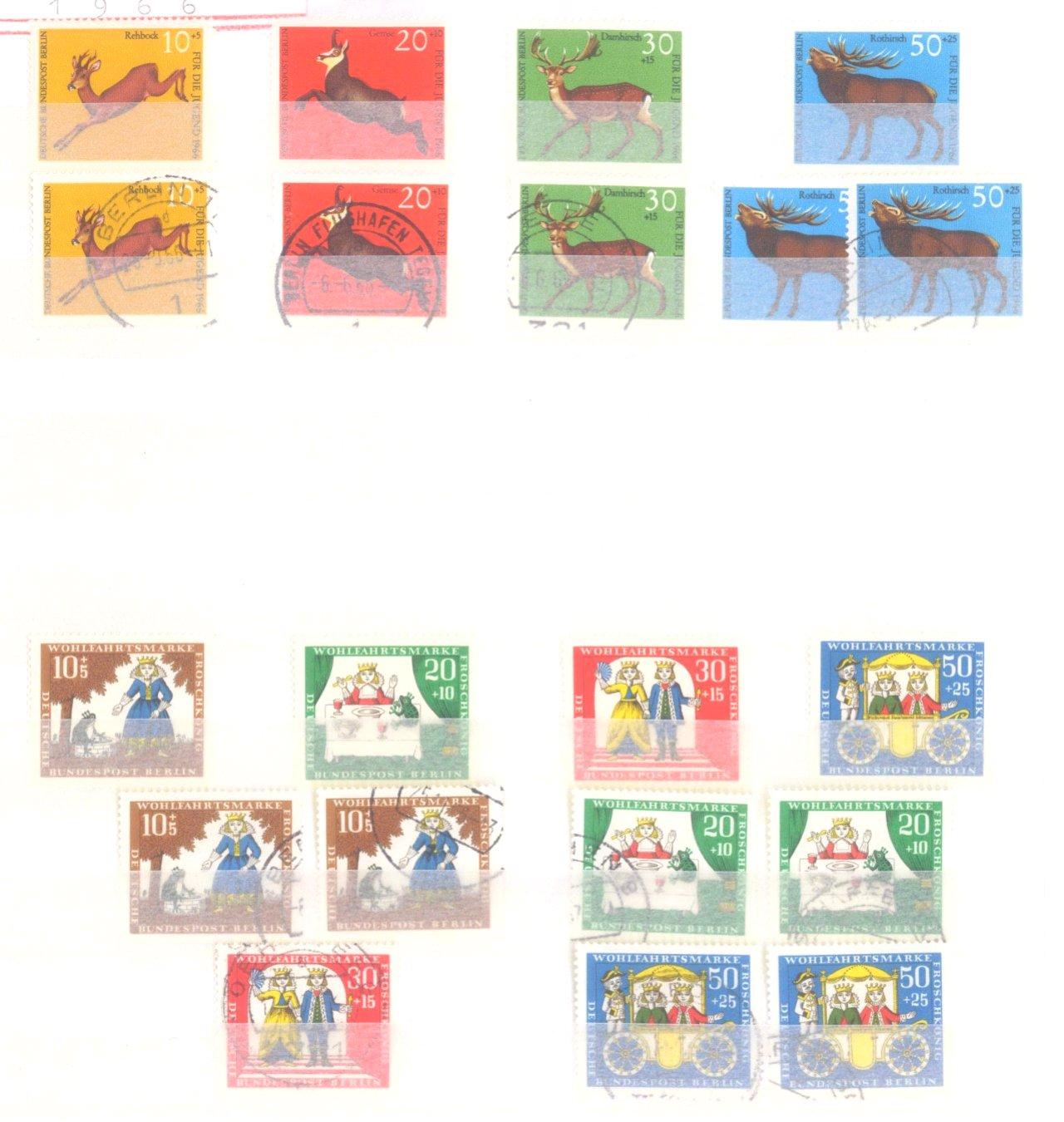 Sammlung Berlin ab 1949 mit Sonderaufstellung d. Dauermarken-14