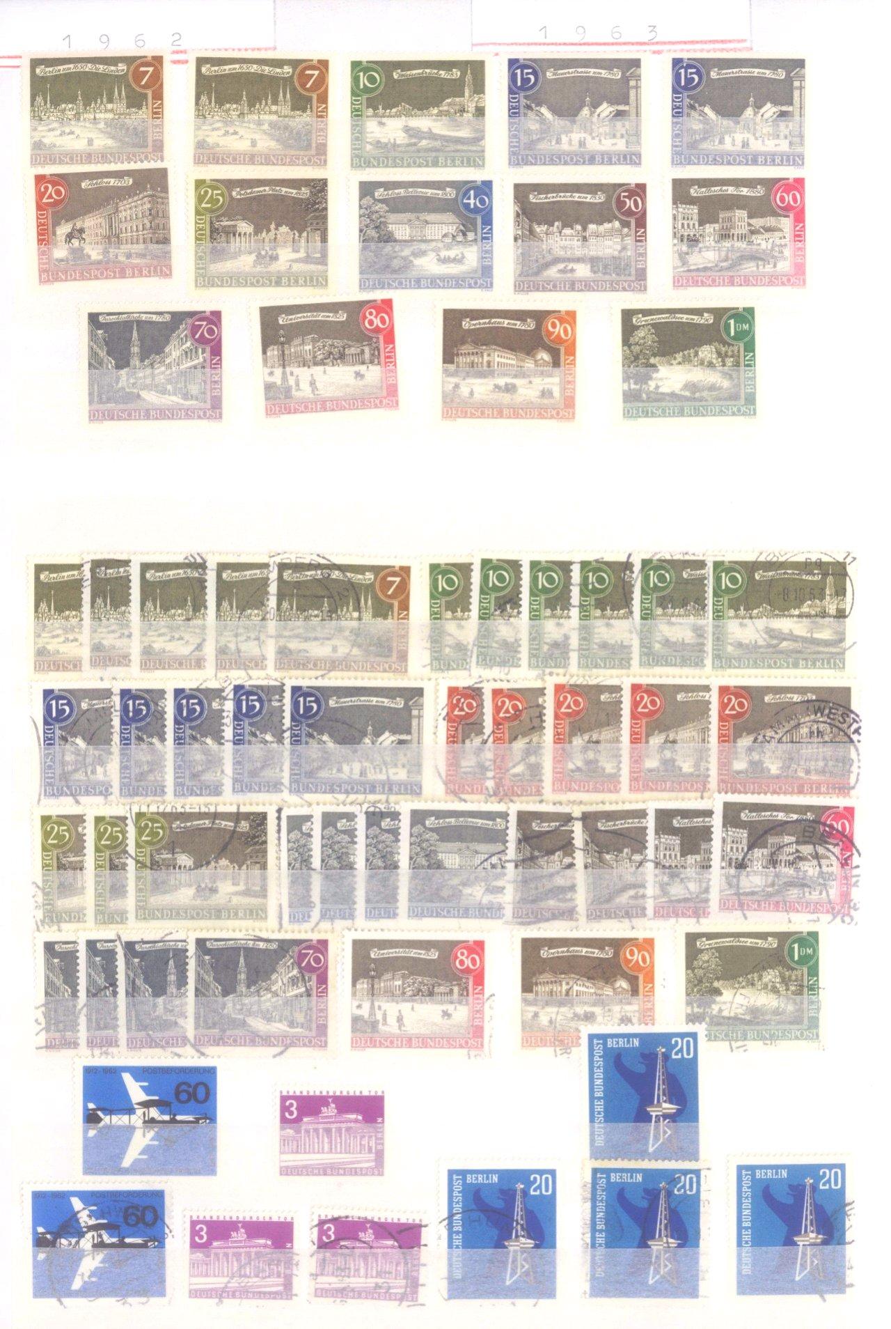 Sammlung Berlin ab 1949 mit Sonderaufstellung d. Dauermarken-18