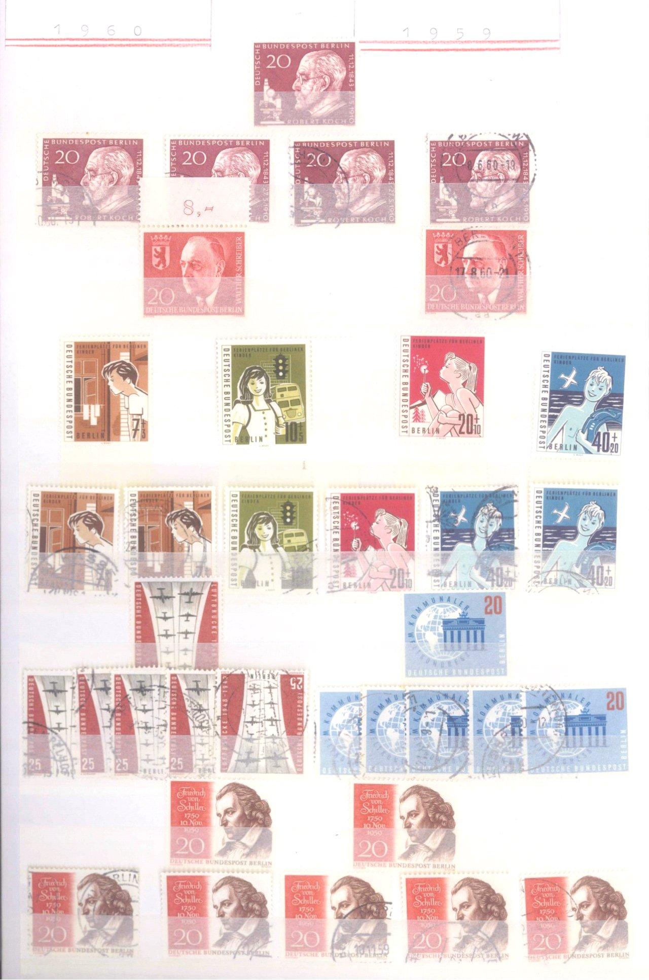 Sammlung Berlin ab 1949 mit Sonderaufstellung d. Dauermarken-20