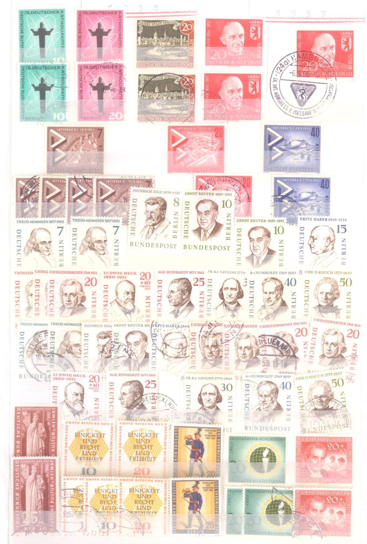 Sammlung Berlin ab 1949 mit Sonderaufstellung d. Dauermarken-21