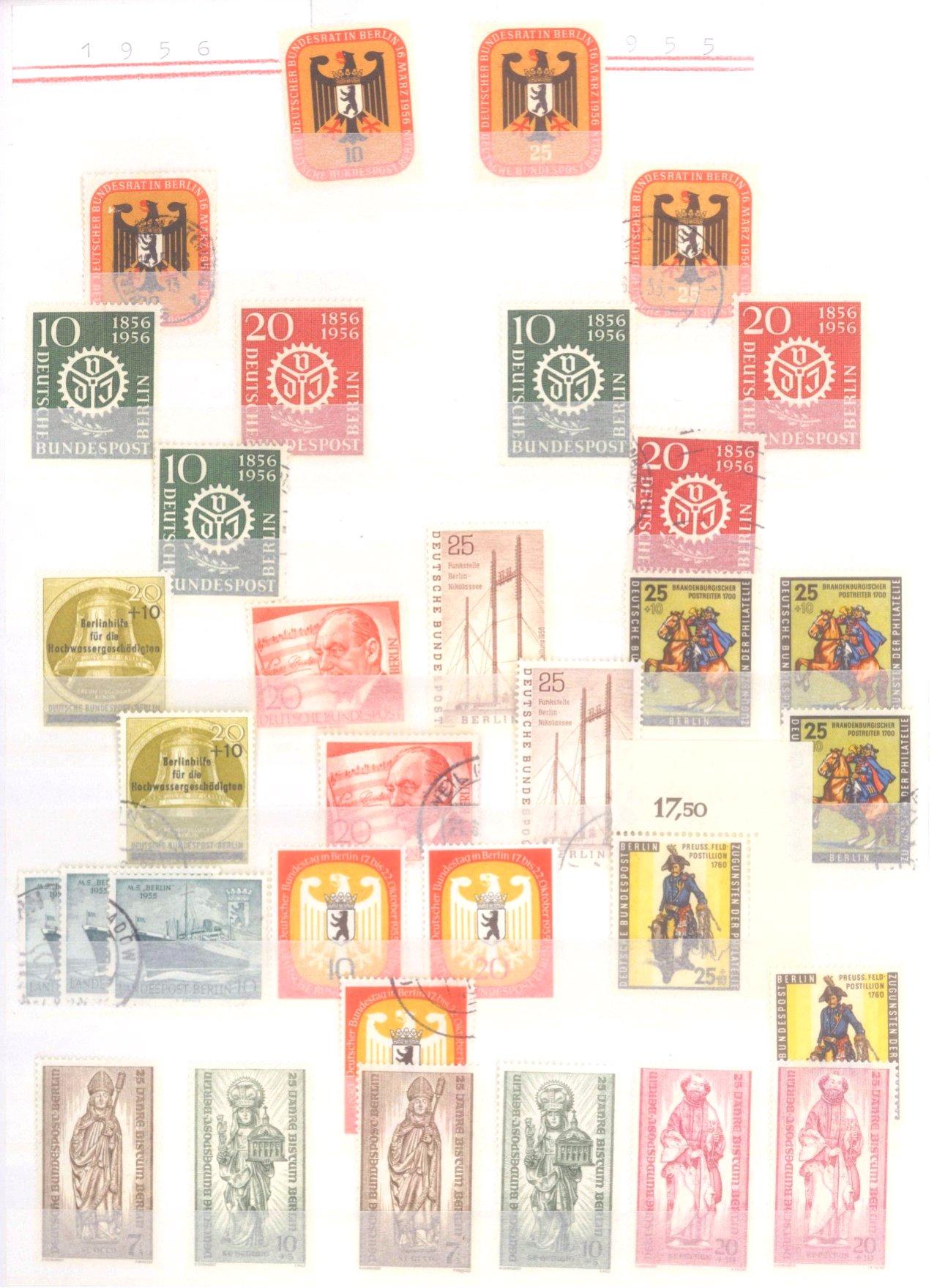 Sammlung Berlin ab 1949 mit Sonderaufstellung d. Dauermarken-22