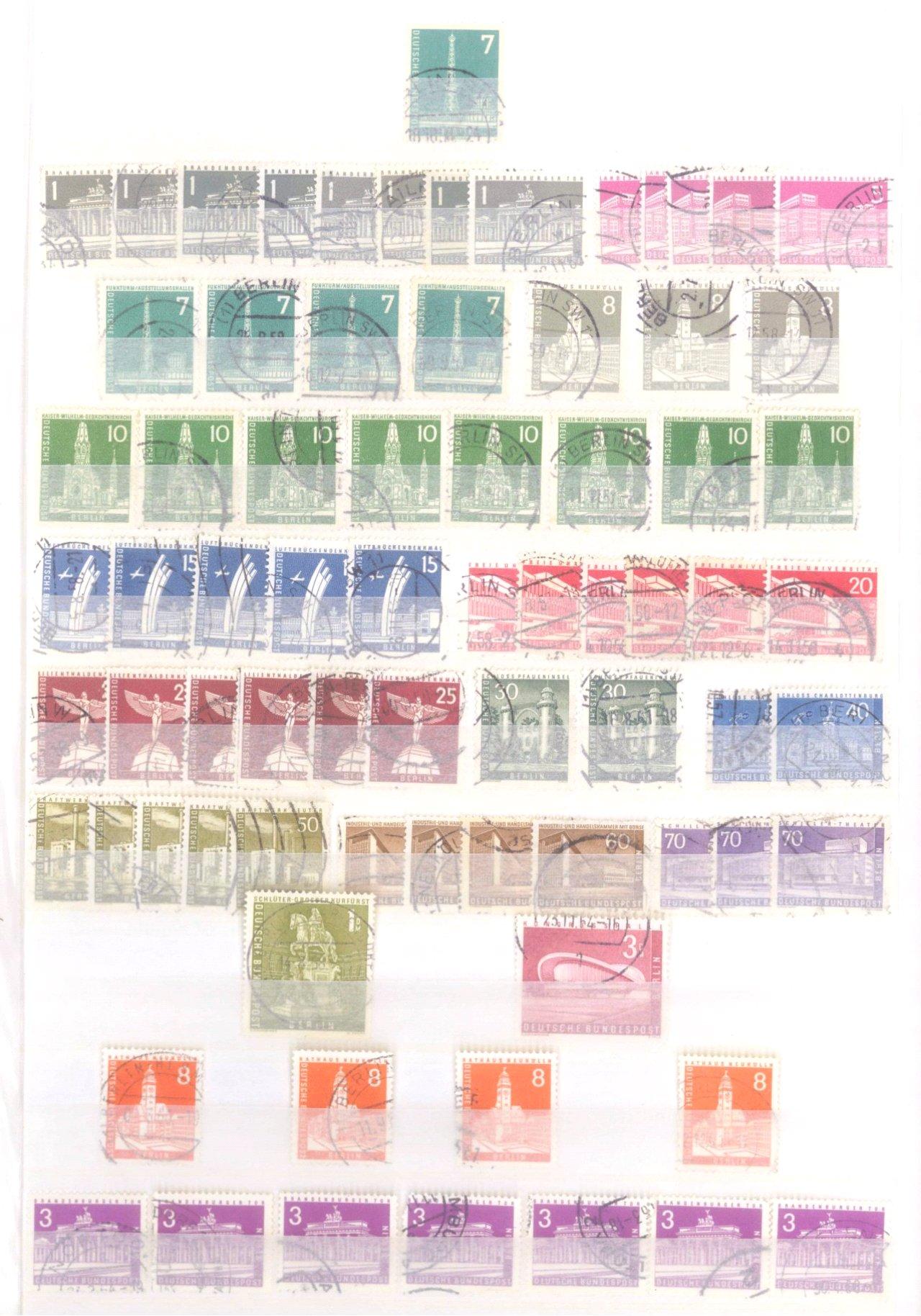 Sammlung Berlin ab 1949 mit Sonderaufstellung d. Dauermarken-28