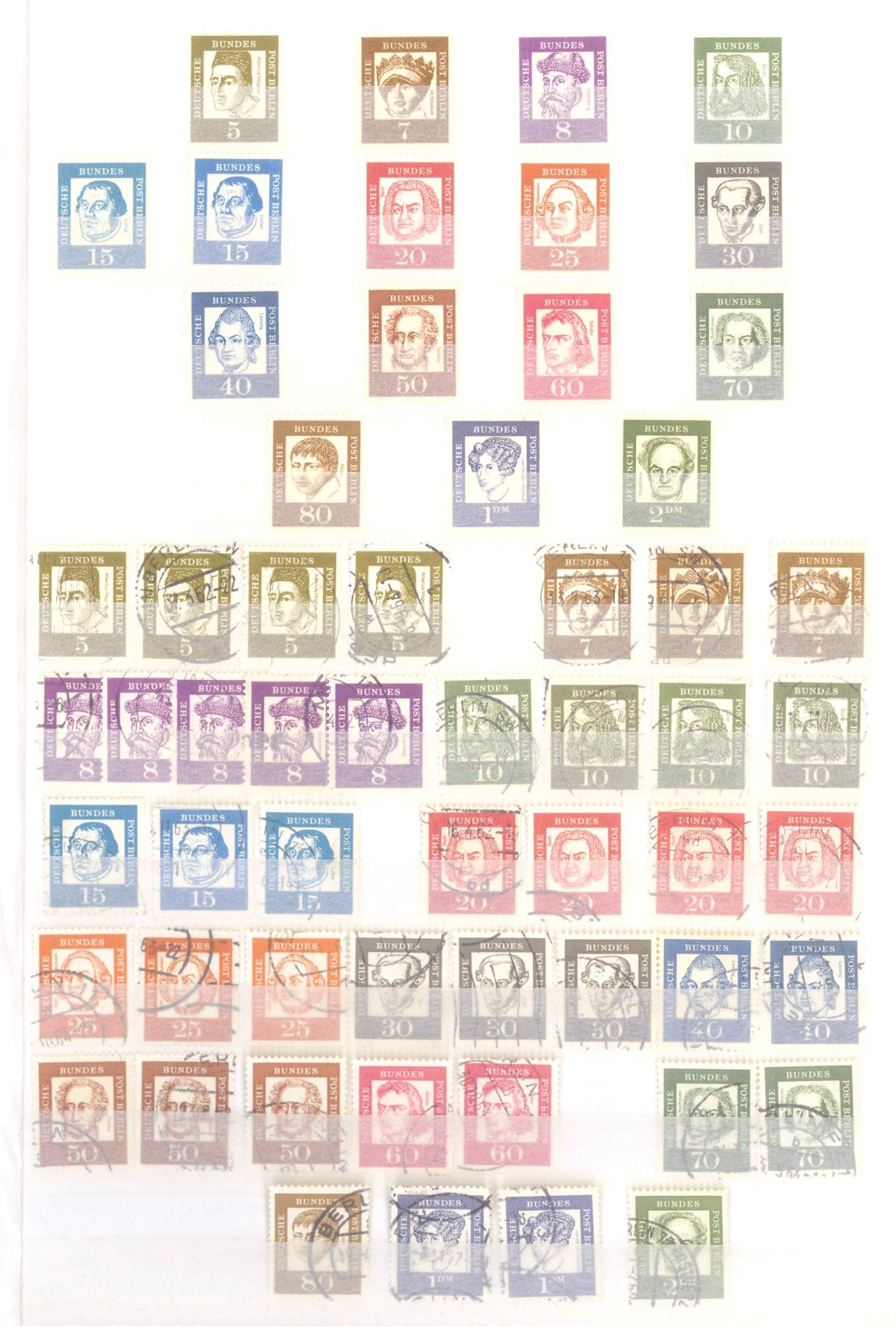 Sammlung Berlin ab 1949 mit Sonderaufstellung d. Dauermarken-30