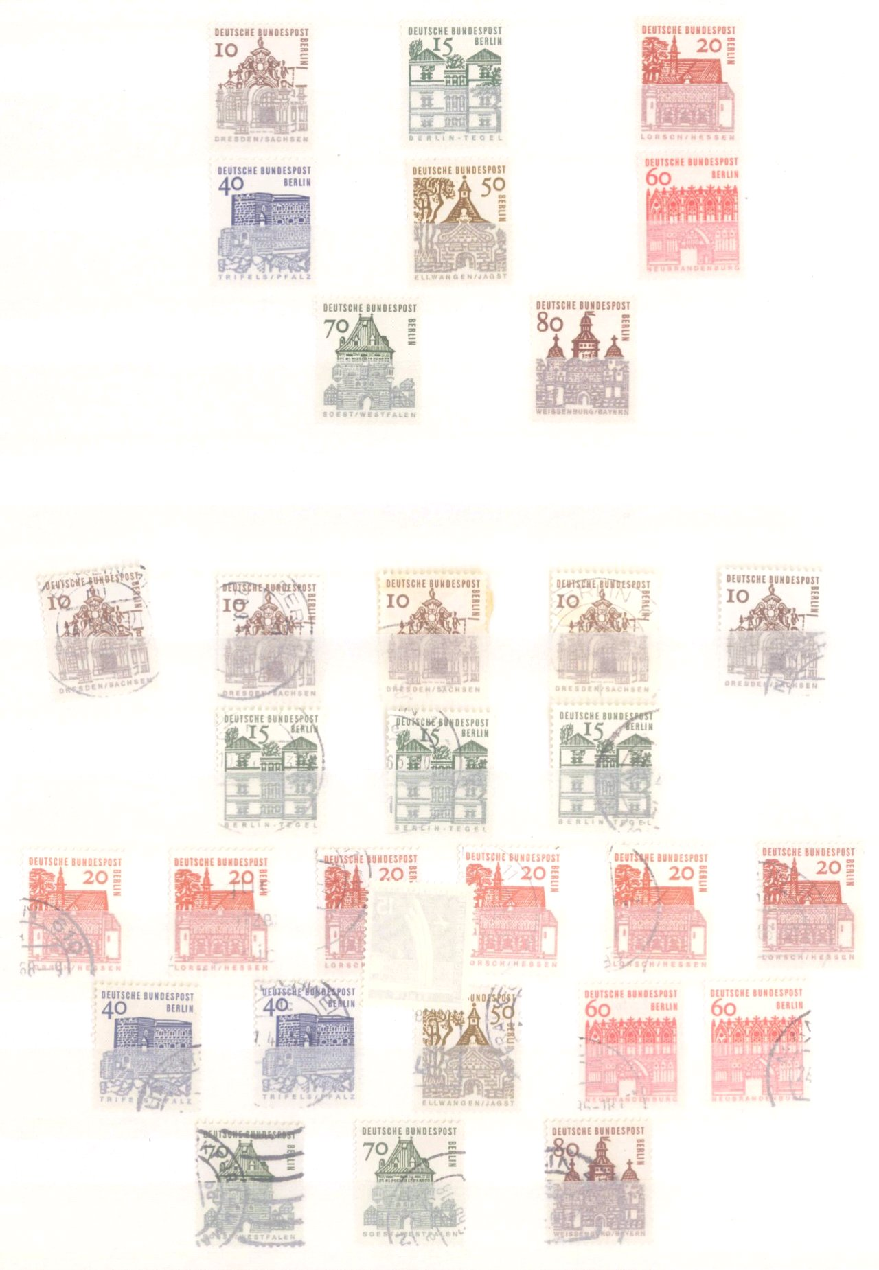 Sammlung Berlin ab 1949 mit Sonderaufstellung d. Dauermarken-31