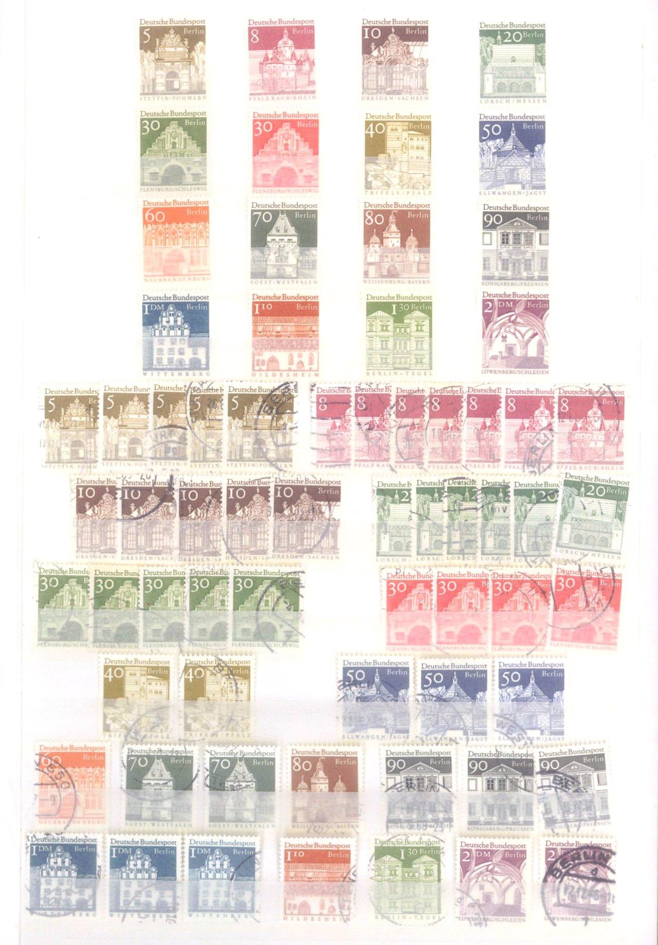 Sammlung Berlin ab 1949 mit Sonderaufstellung d. Dauermarken-32