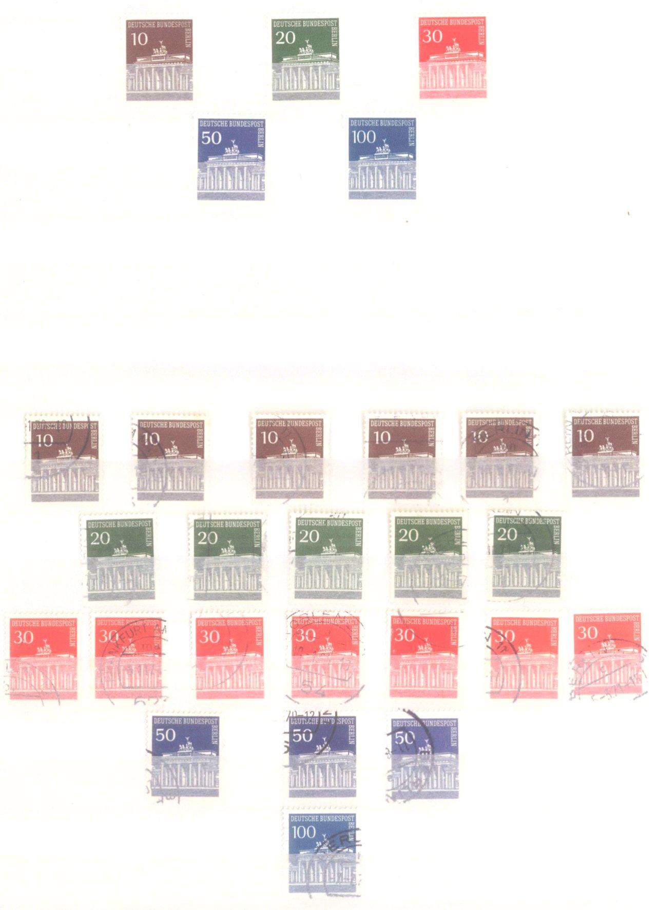 Sammlung Berlin ab 1949 mit Sonderaufstellung d. Dauermarken-33