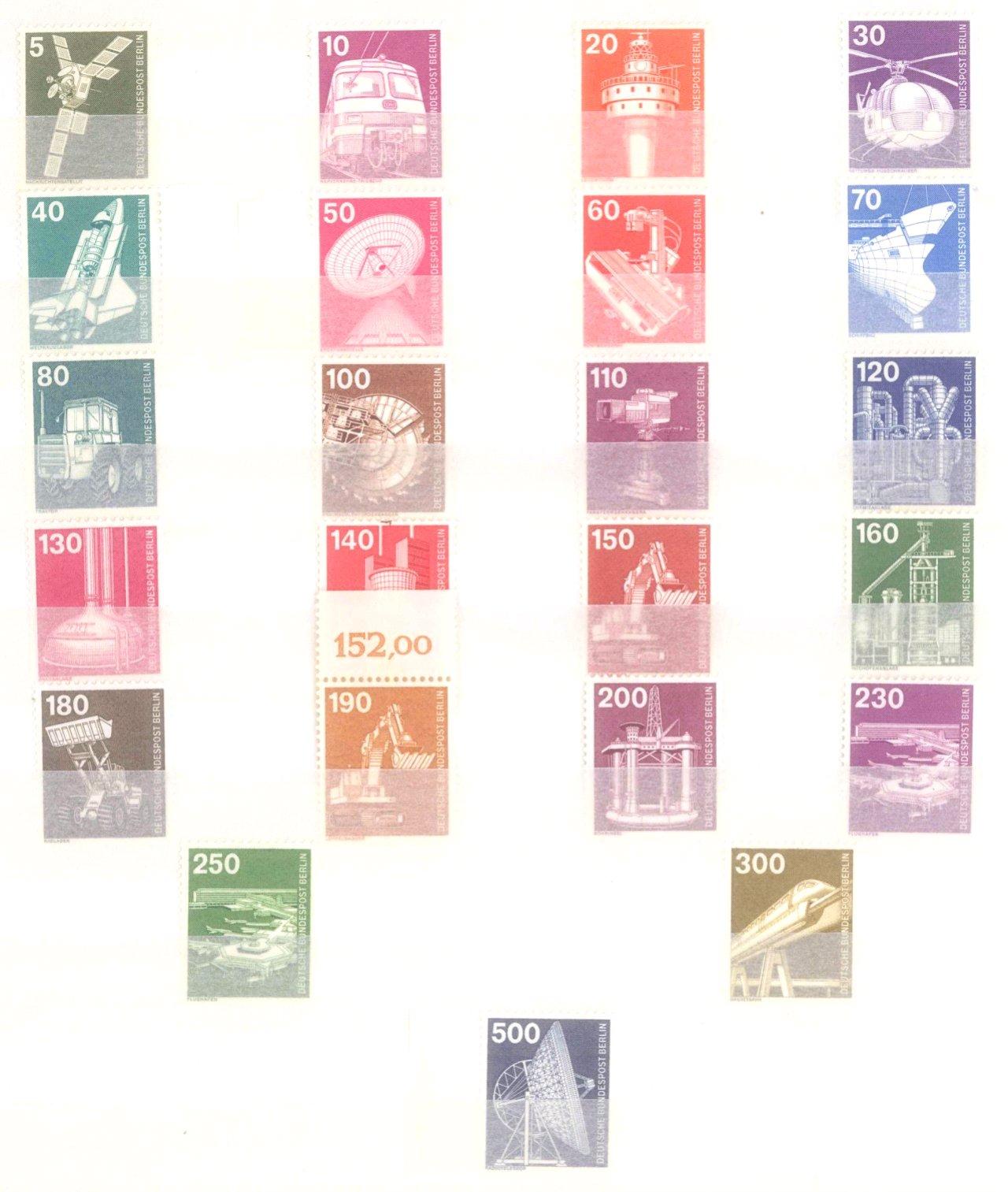 Sammlung Berlin ab 1949 mit Sonderaufstellung d. Dauermarken-37