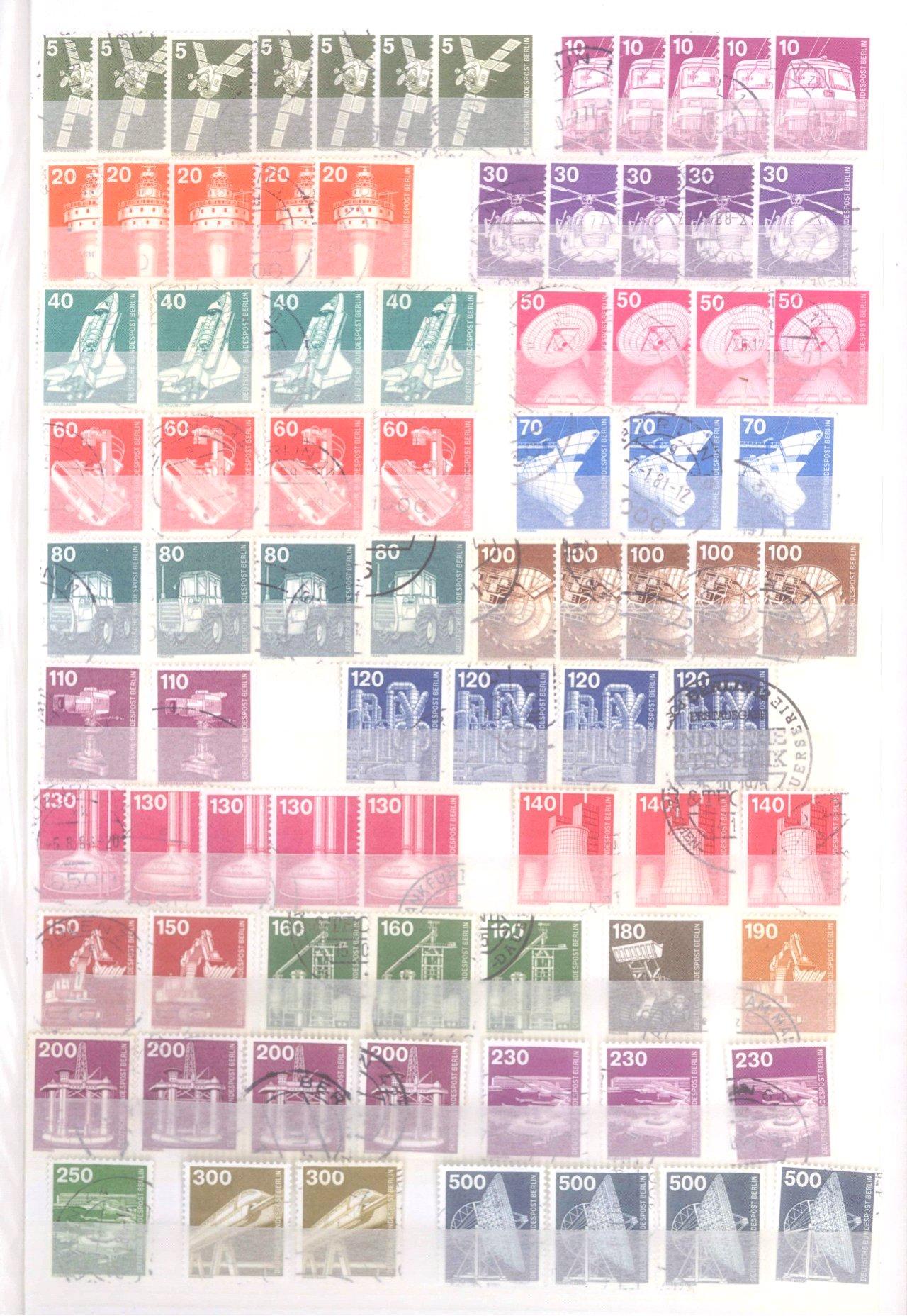 Sammlung Berlin ab 1949 mit Sonderaufstellung d. Dauermarken-38